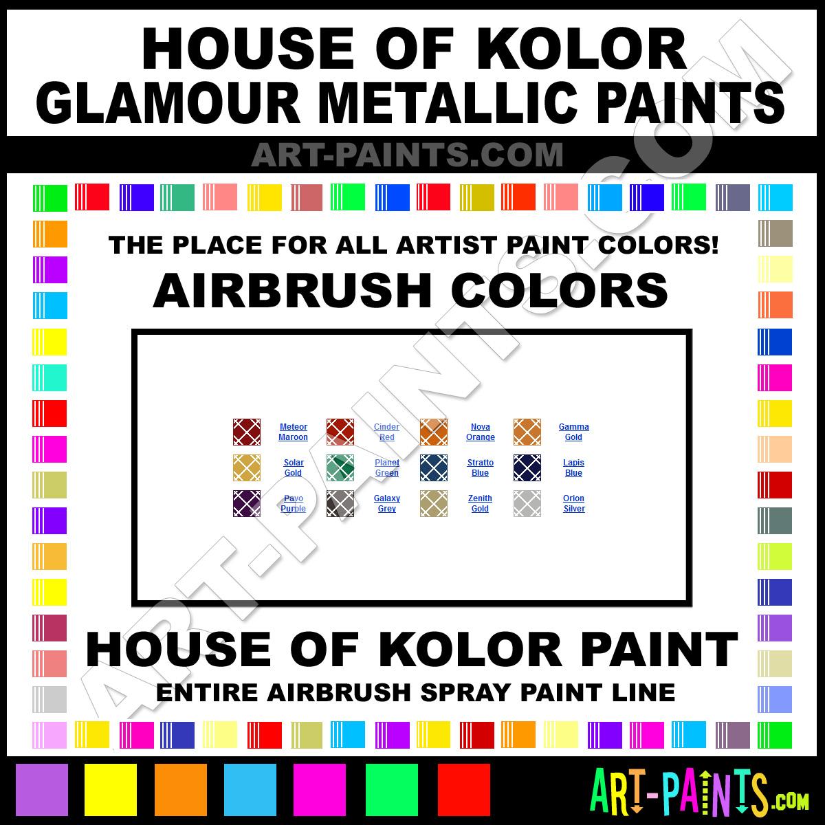 House Of Kolor Glamour Metallics Airbrush Spray Paint