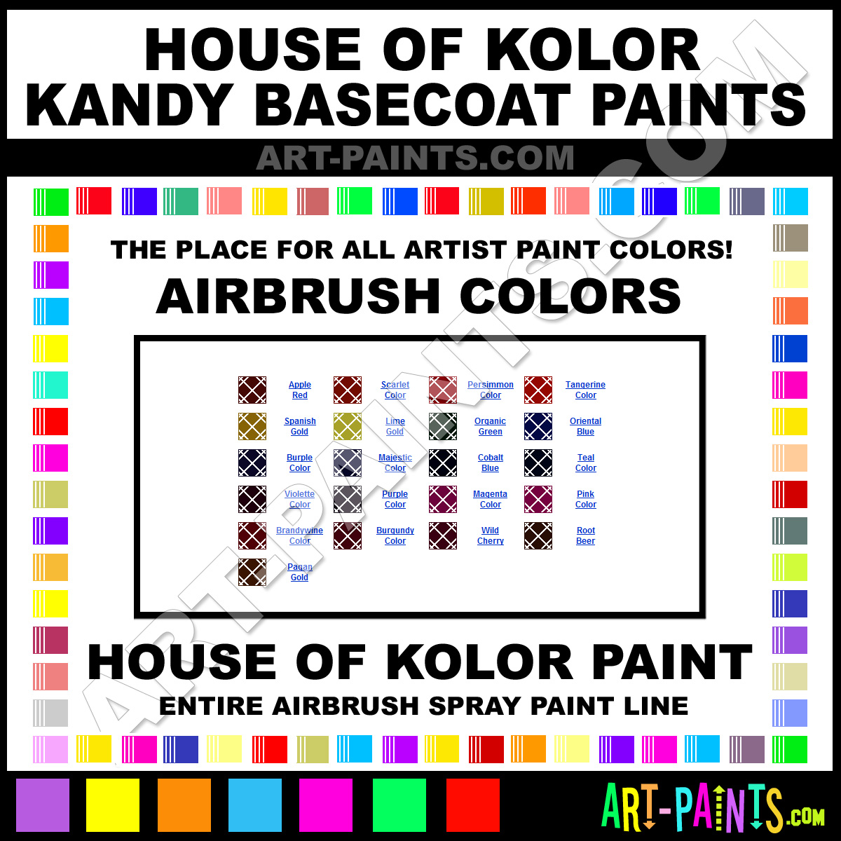 Colors In Spanish Chart Spanish gold kandy basecoats