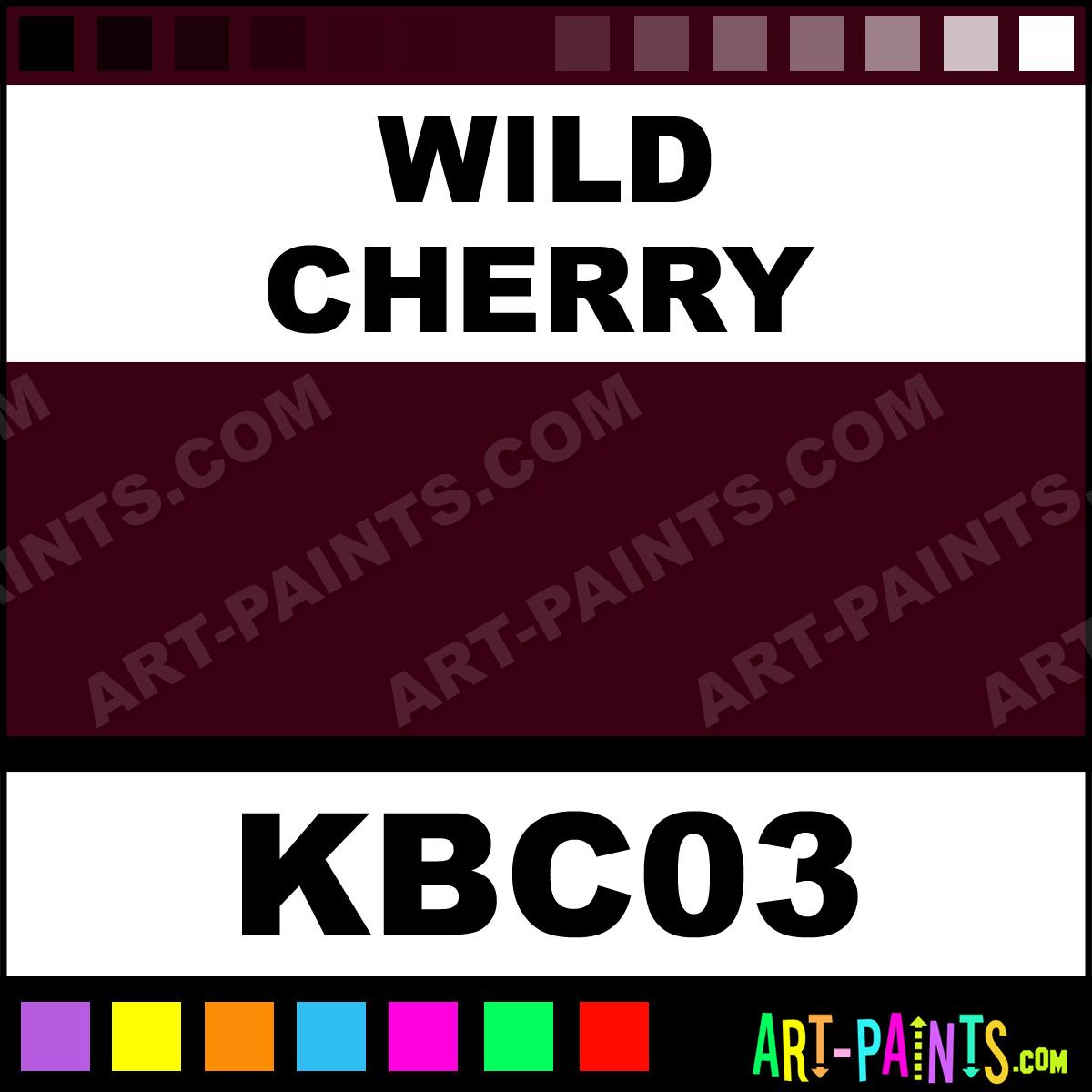 Wild Cherry Kandy Basecoats Airbrush Spray Paints Kbc03