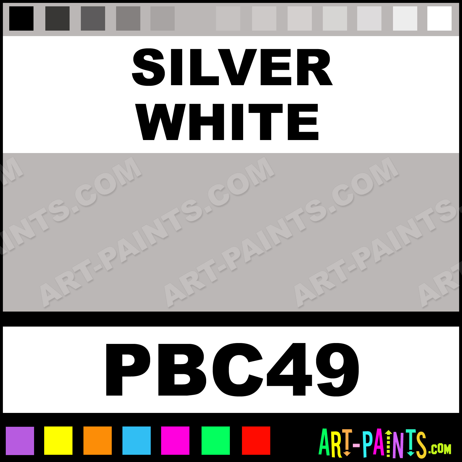 Silver White Paint