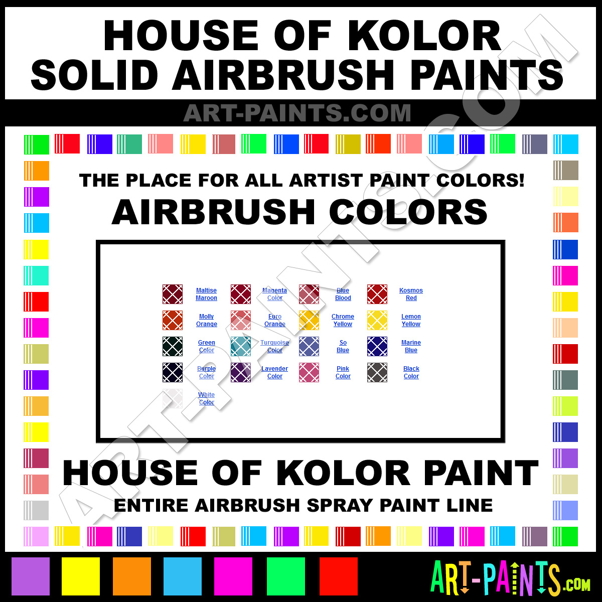 House Of Kolor Solid Airbrush Spray Paint Colors House Of Kolor