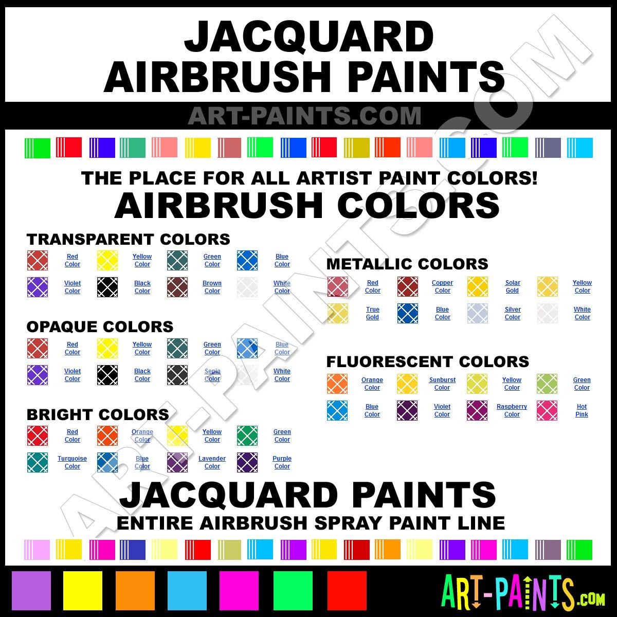 Jacquard Airbrush Spray Paint Brands Jacquard Spray Paint Brands Airbrush Spray Paints
