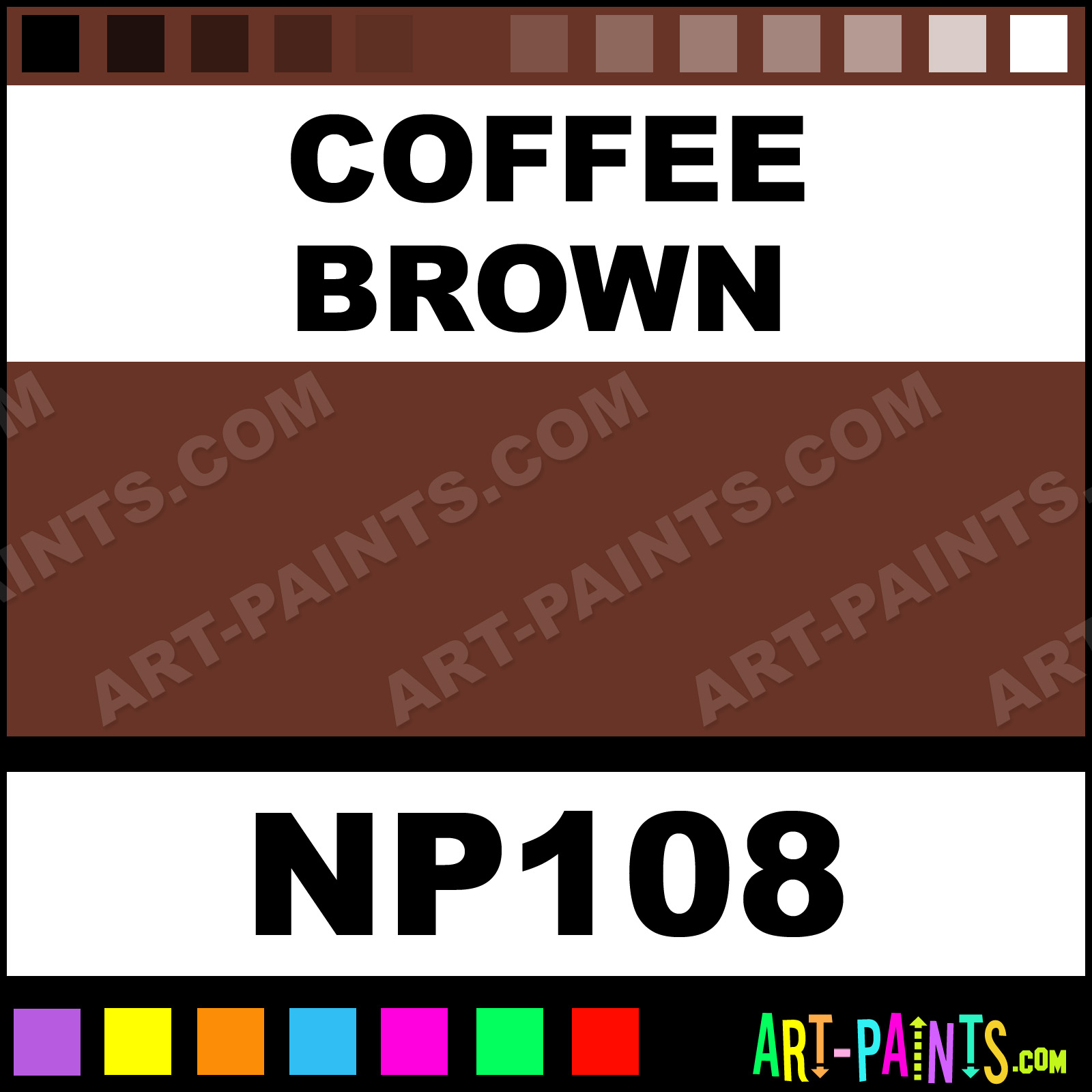 Coffee Brown Paint