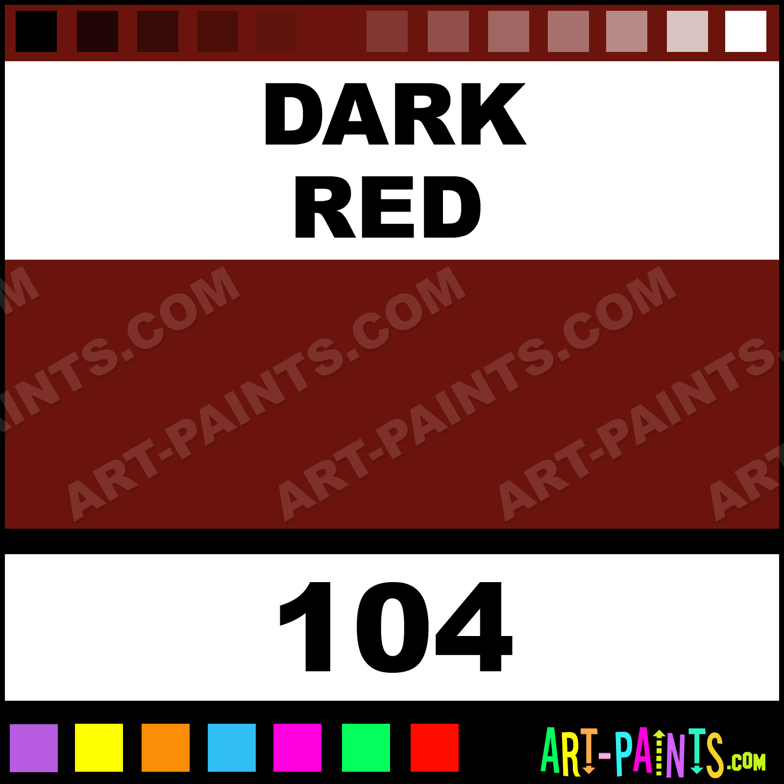 Dark Red Lacquer Airbrush Spray Paints 104 Dark Red Paint
