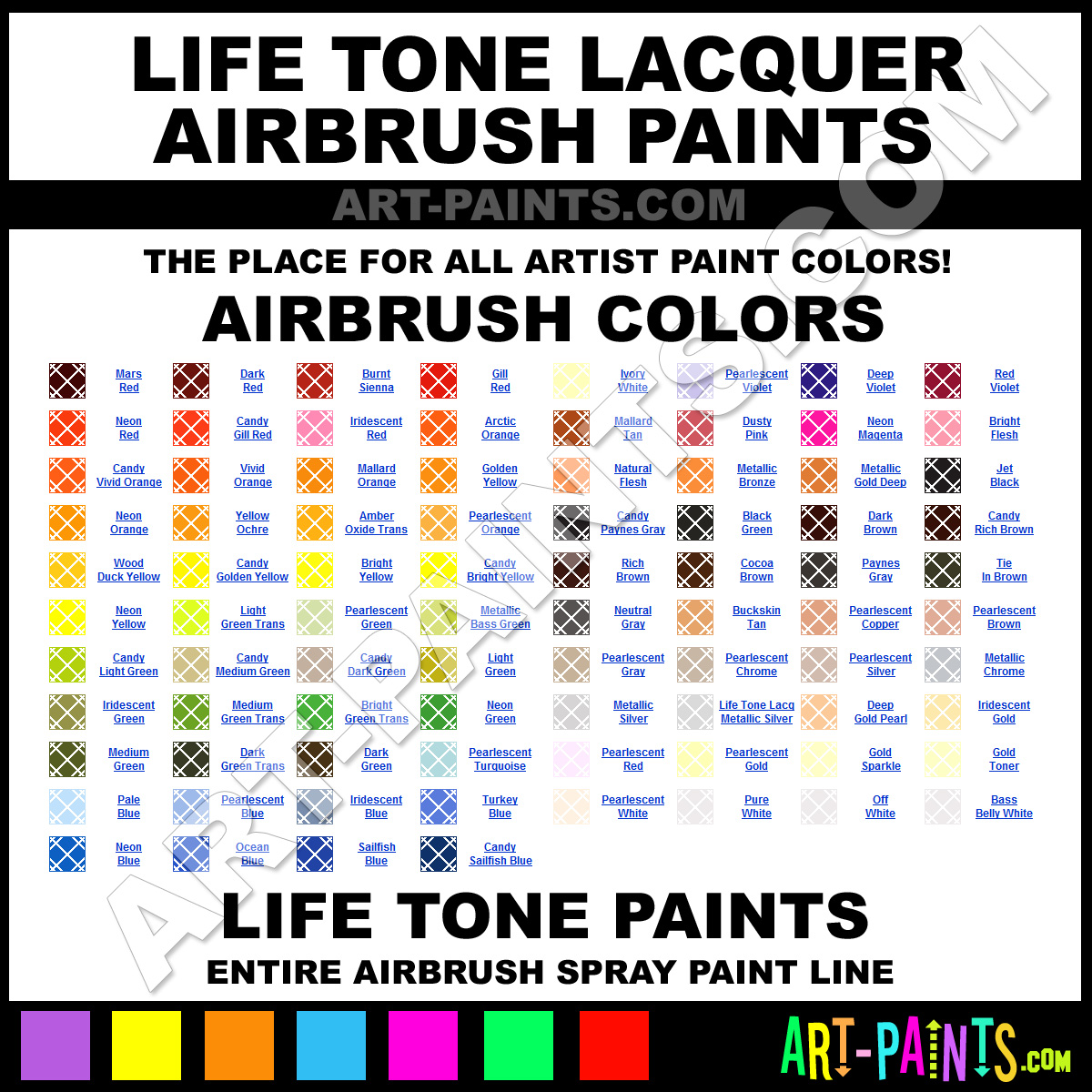 Life Tone Lacquer Airbrush Spray Paint Colors Life Tone Lacquer Spray Paint Colors Lacquer
