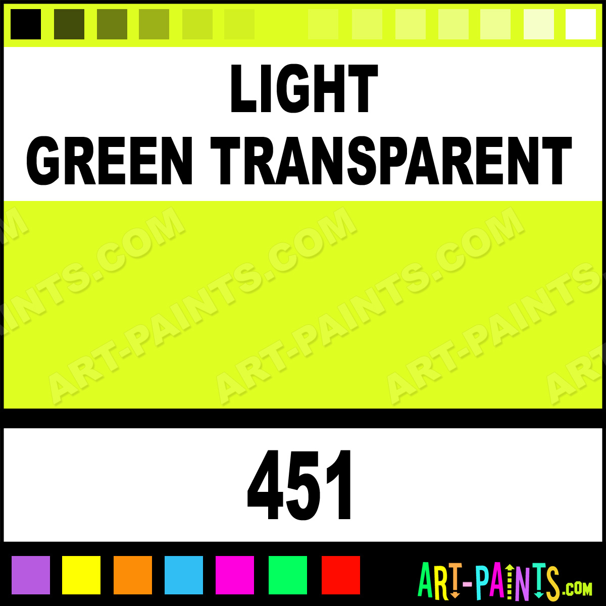 Light Green Transparent Lacquer Airbrush Spray Paints 451 Light Green Transparent Paint
