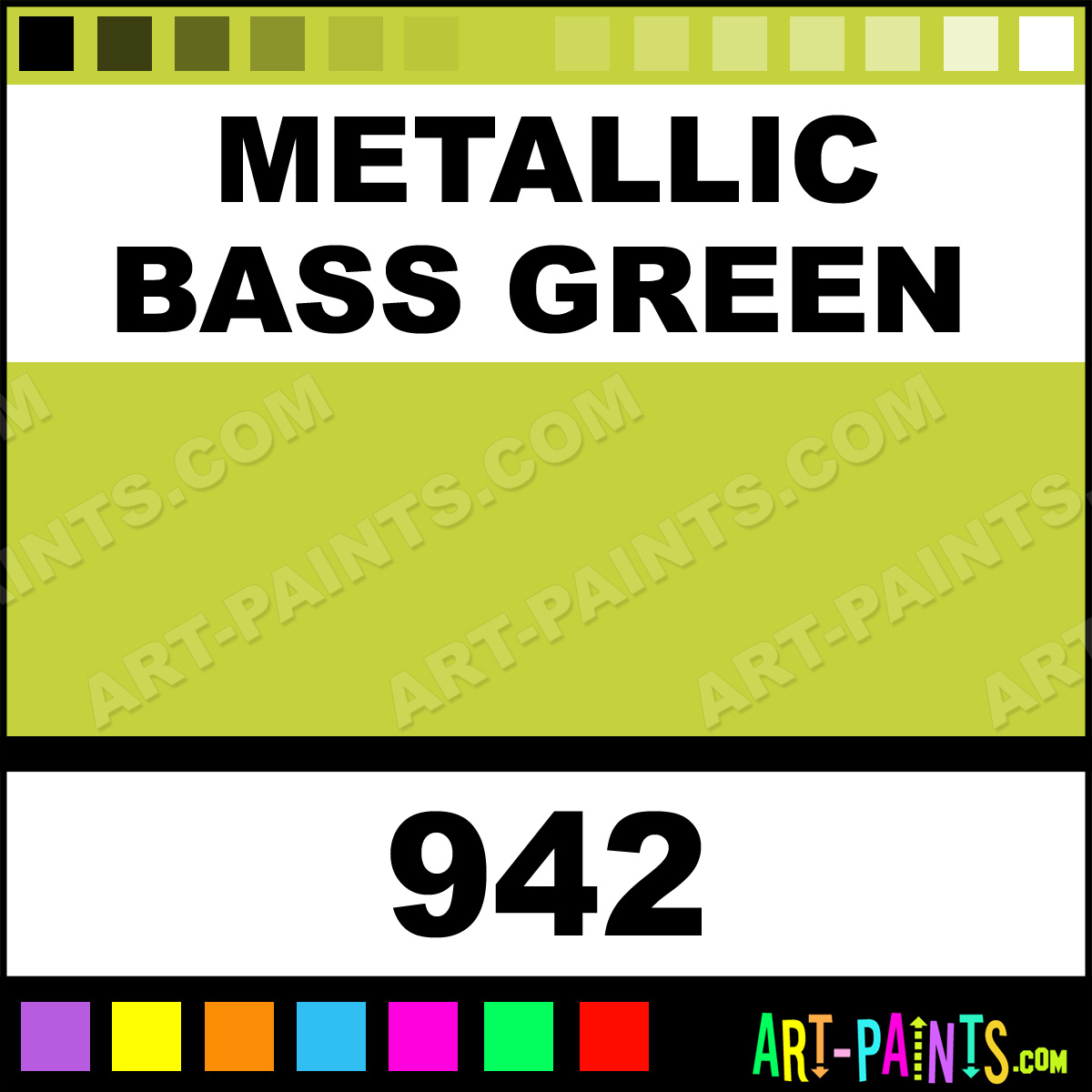 Metallic Bass Green Lacquer Airbrush Spray Paints - 942 - Metallic ...