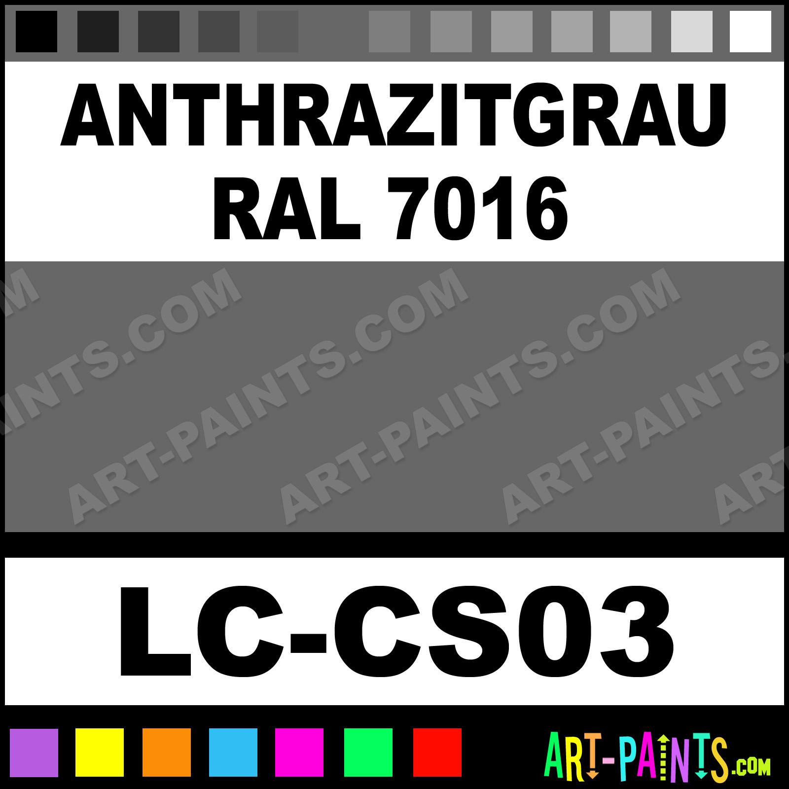 Anthrazitgrau RAL 7016 German Tanks WWII 6 Airbrush Spray Paints ...