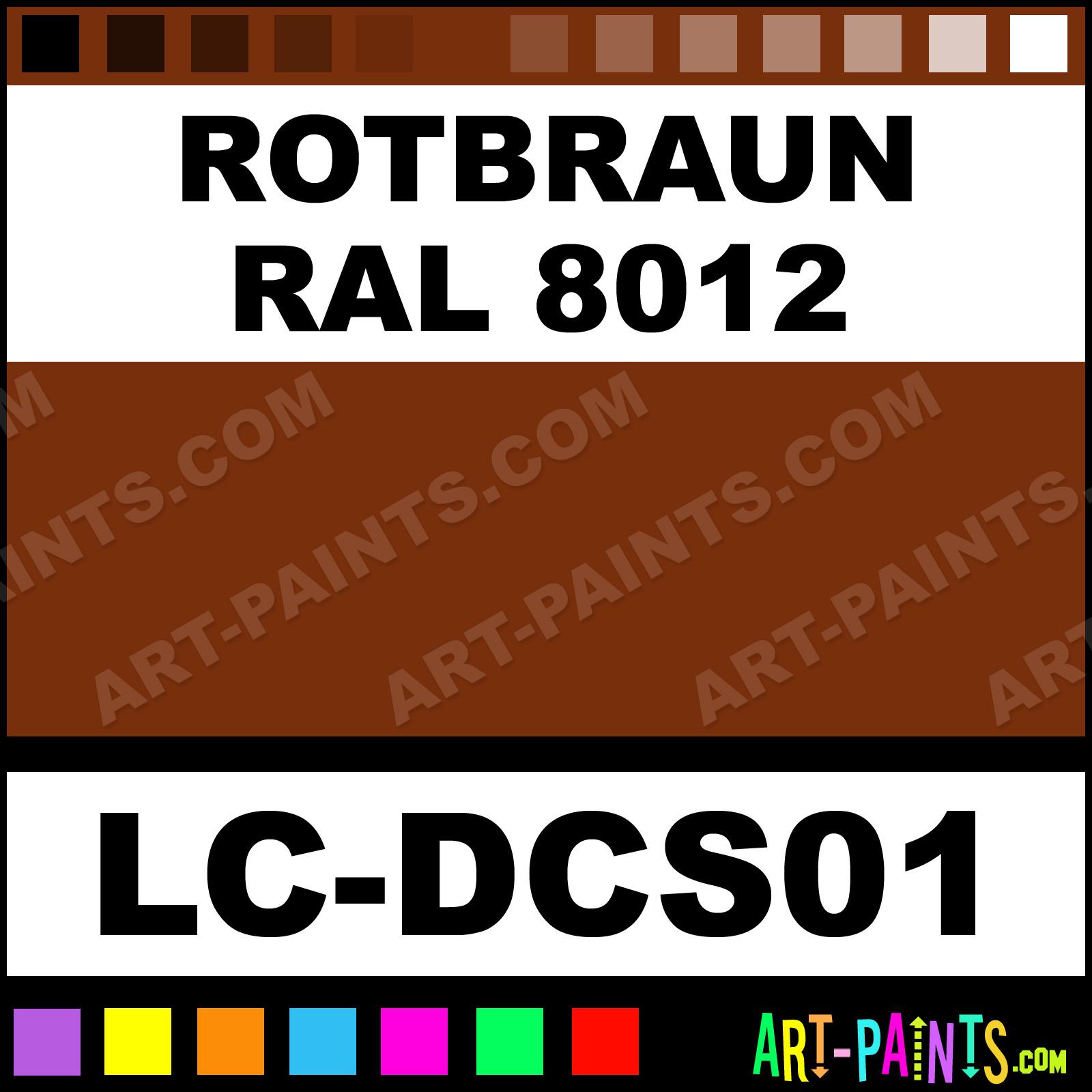 Rotbraun RAL 8012 German Tanks WWII Set Airbrush Spray Paints - LC-DCS01 -  Rotbraun RAL 8012 Paint, Rotbraun RAL 8012 Color, Lifecolor German Tanks  WWII Set ...