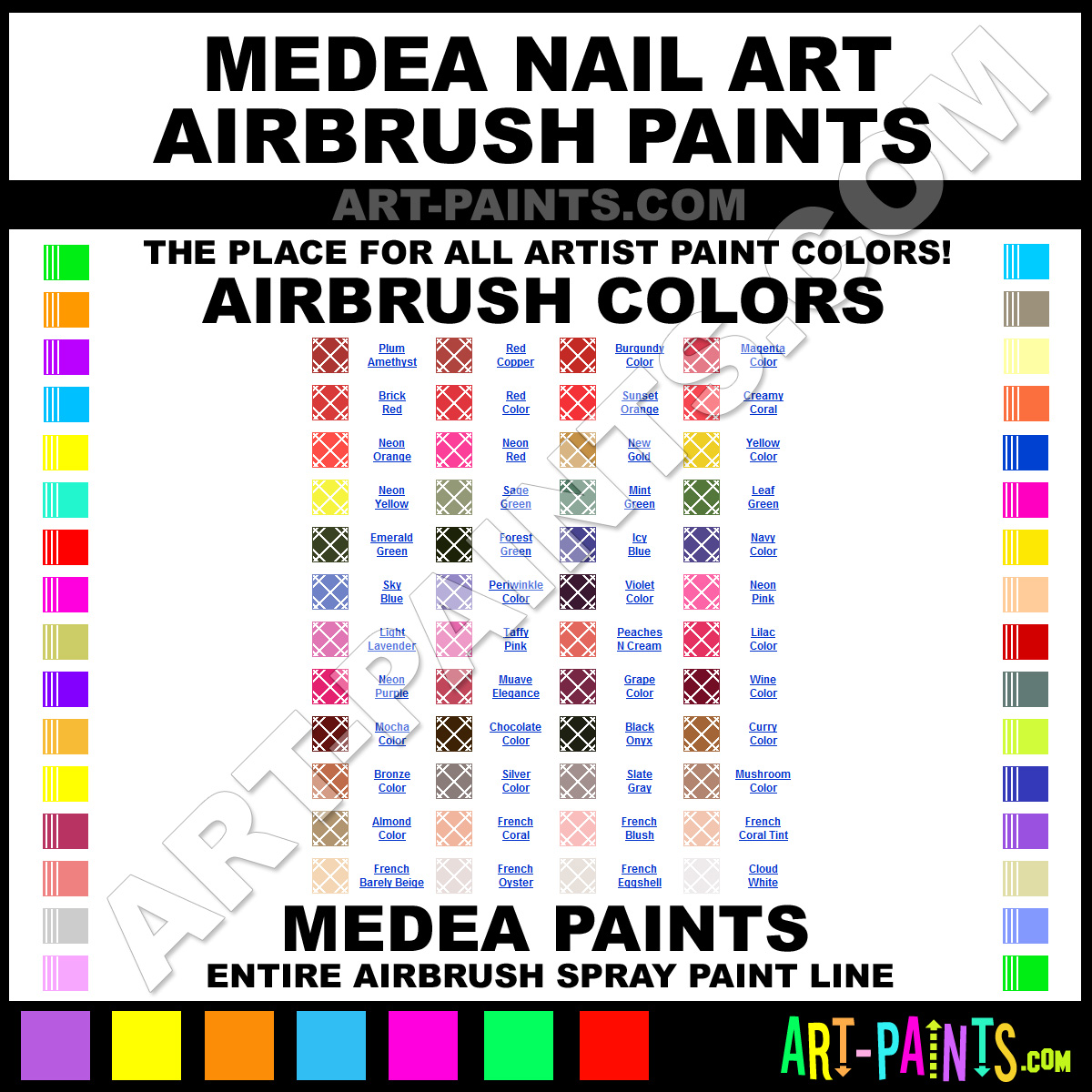 Amazon.com: Pro Airbrush Nail Art Paint Stencil Kit Design Set 9