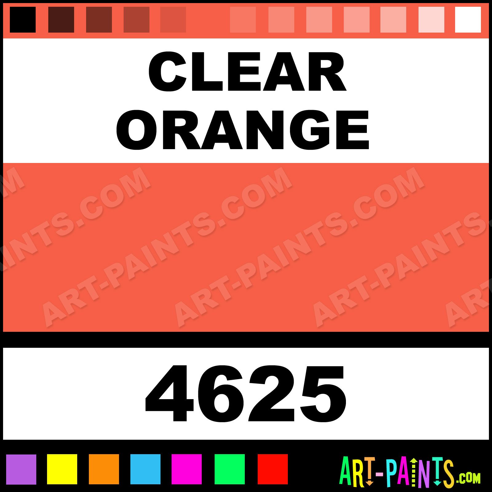 Clear Orange Paint