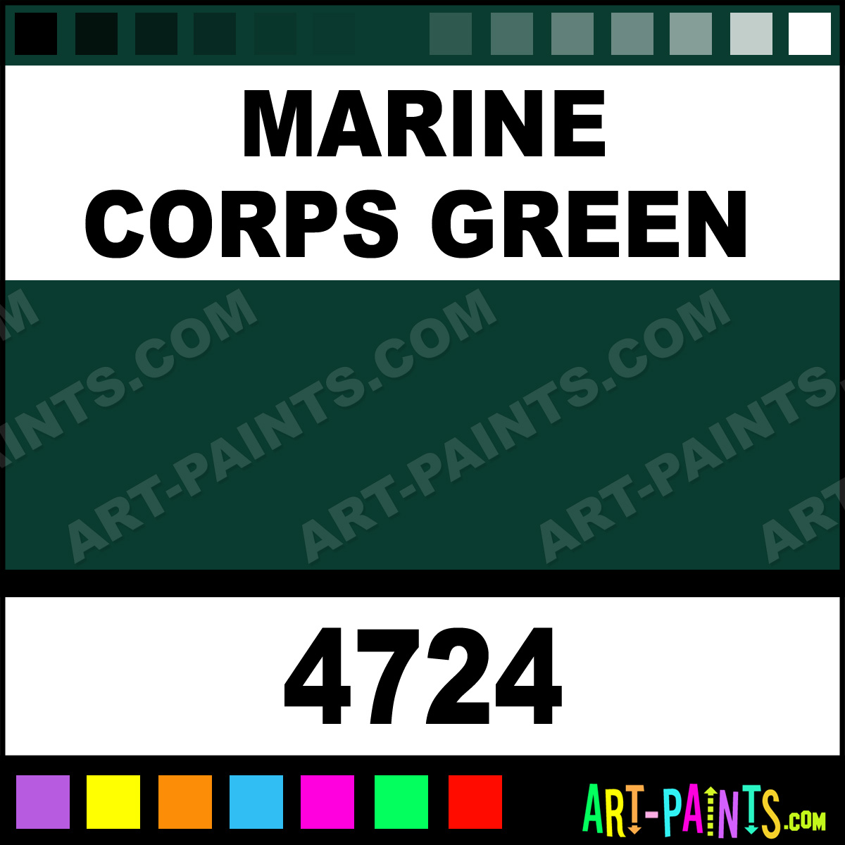 Marine Corps Green Artist Airbrush Spray Paints 4724