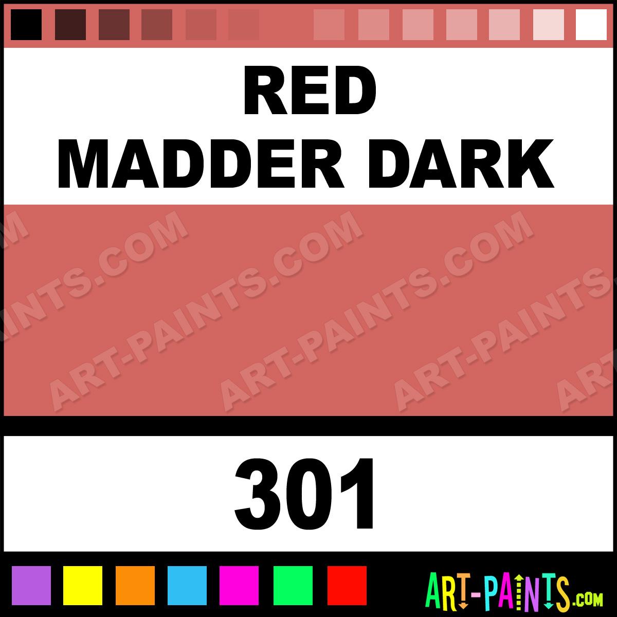 Red Madder Dark Professional Airbrush Spray Paints 301 Red Madder Dark Paint Red Madder