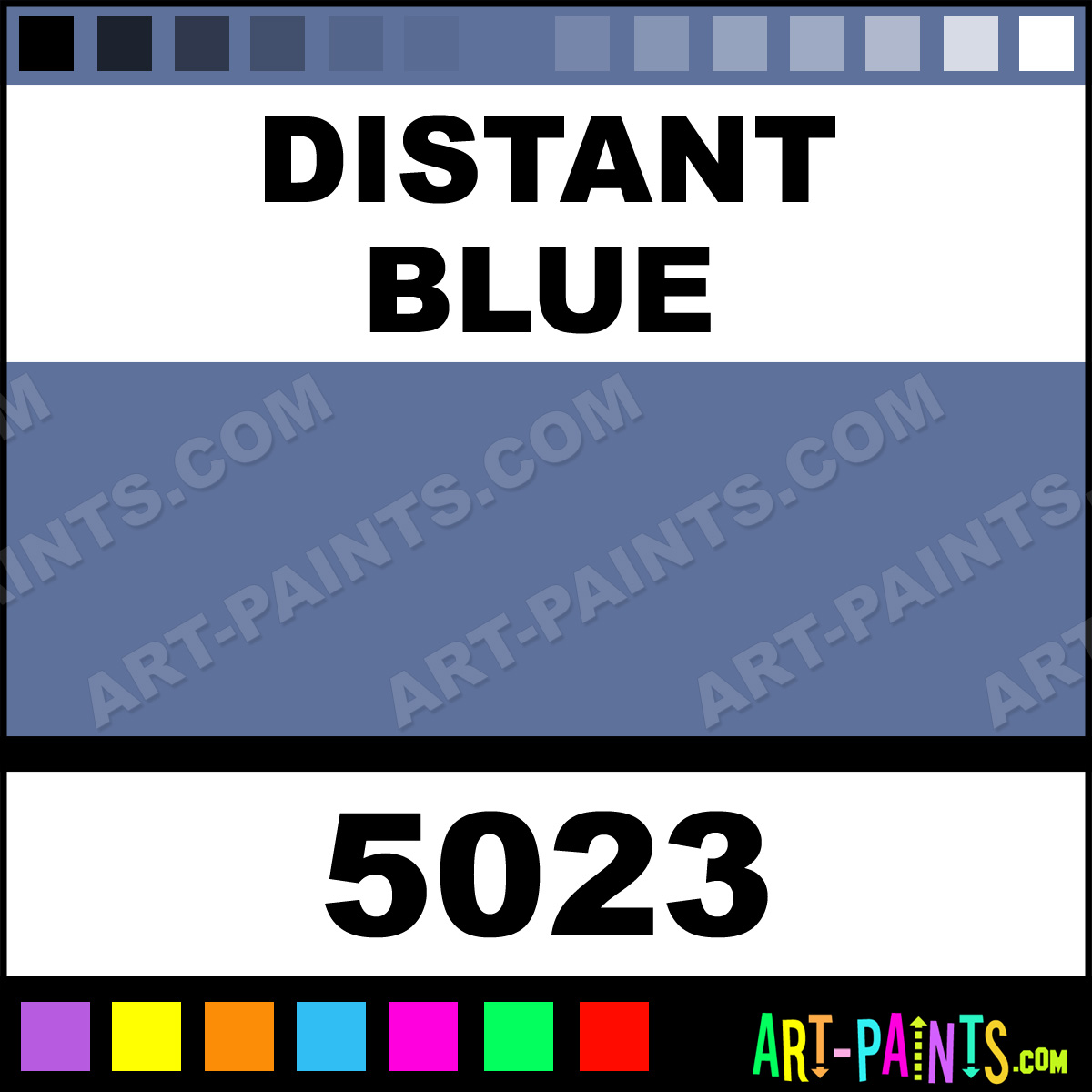Distant Blue Glossy Acrylic Airbrush Spray Paints - 5023 ...