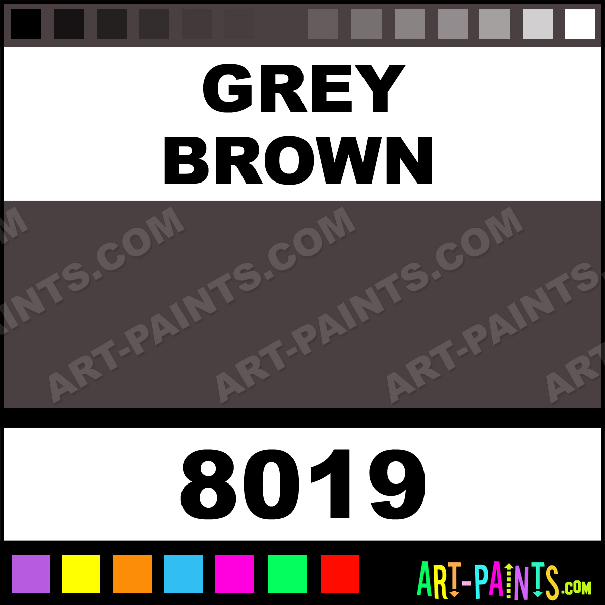 Grey Brown Glossy Acrylic Airbrush Spray Paints 8019 Grey Brown Paint Gr