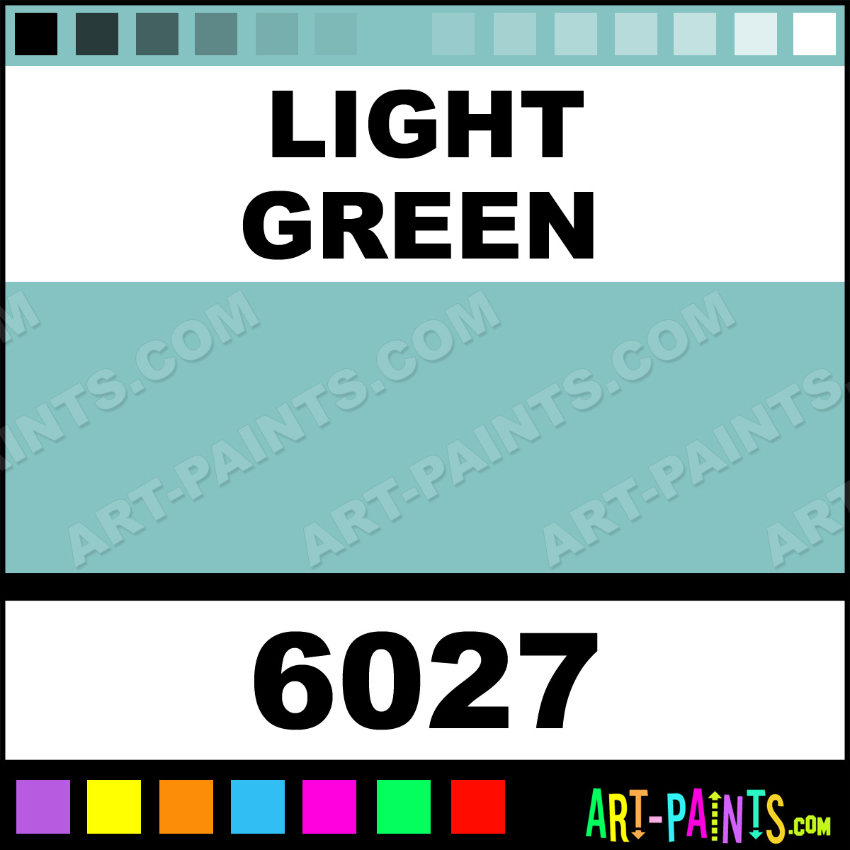 Light Green Glossy Acrylic Airbrush Spray Paints 6027 Light Green Paint Light Green Color