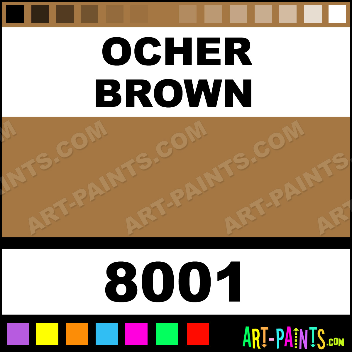 Earthy Ochre Paint Color: Ocher Brown Glossy Acrylic Airbrush Spray Paints