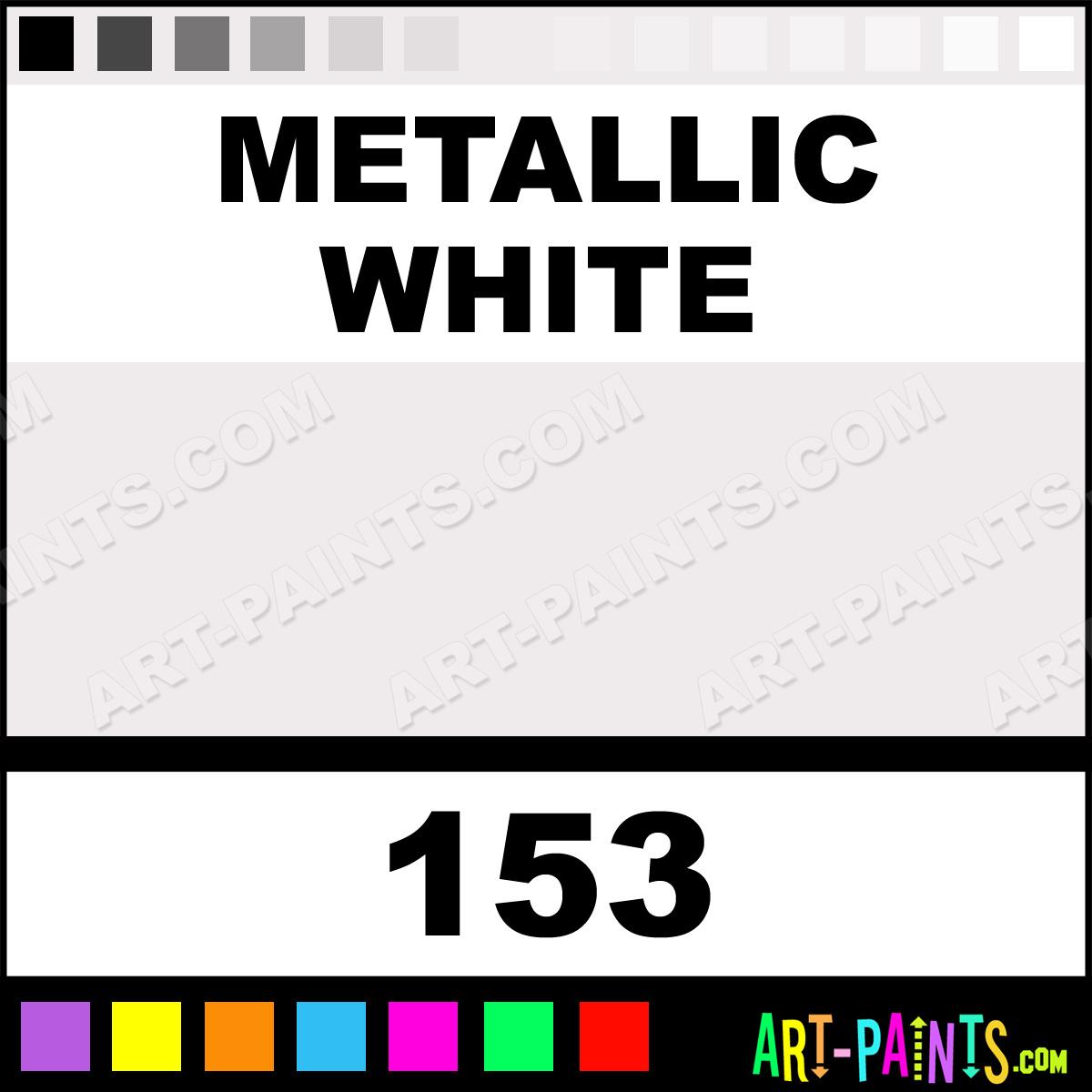 Metallic White Metallic Airbrush Spray Paints 153 Metallic White Paint Metallic White Color