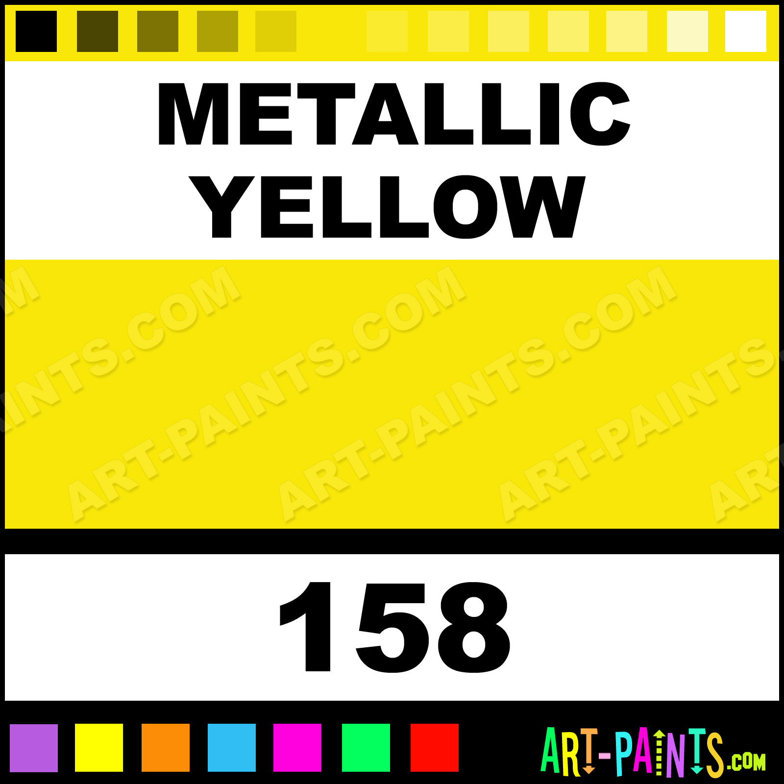 Metallic yellow metallic airbrush spray paints 158 for Metallic yellow paint