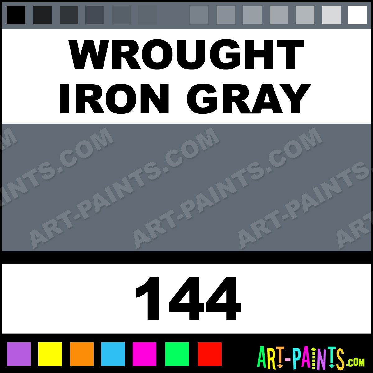 Wrought Iron Color Wrought Iron Gray Transparent Airbrush Spray Paints 144