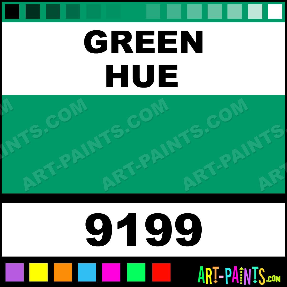 Green Acrylic Airbrush Spray Paints - 9199 - Green Paint