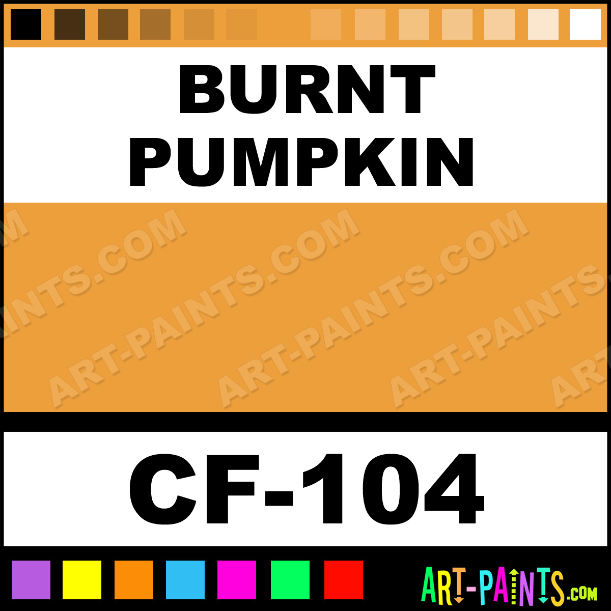 Burnt Pumpkin Magicake Aqua Body Face Paints Cf 104