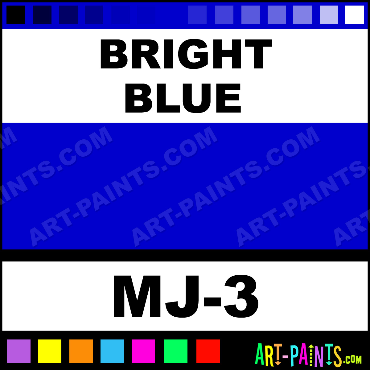 Bright Blue Magicolor Crayons Body Face Paints Mj 3