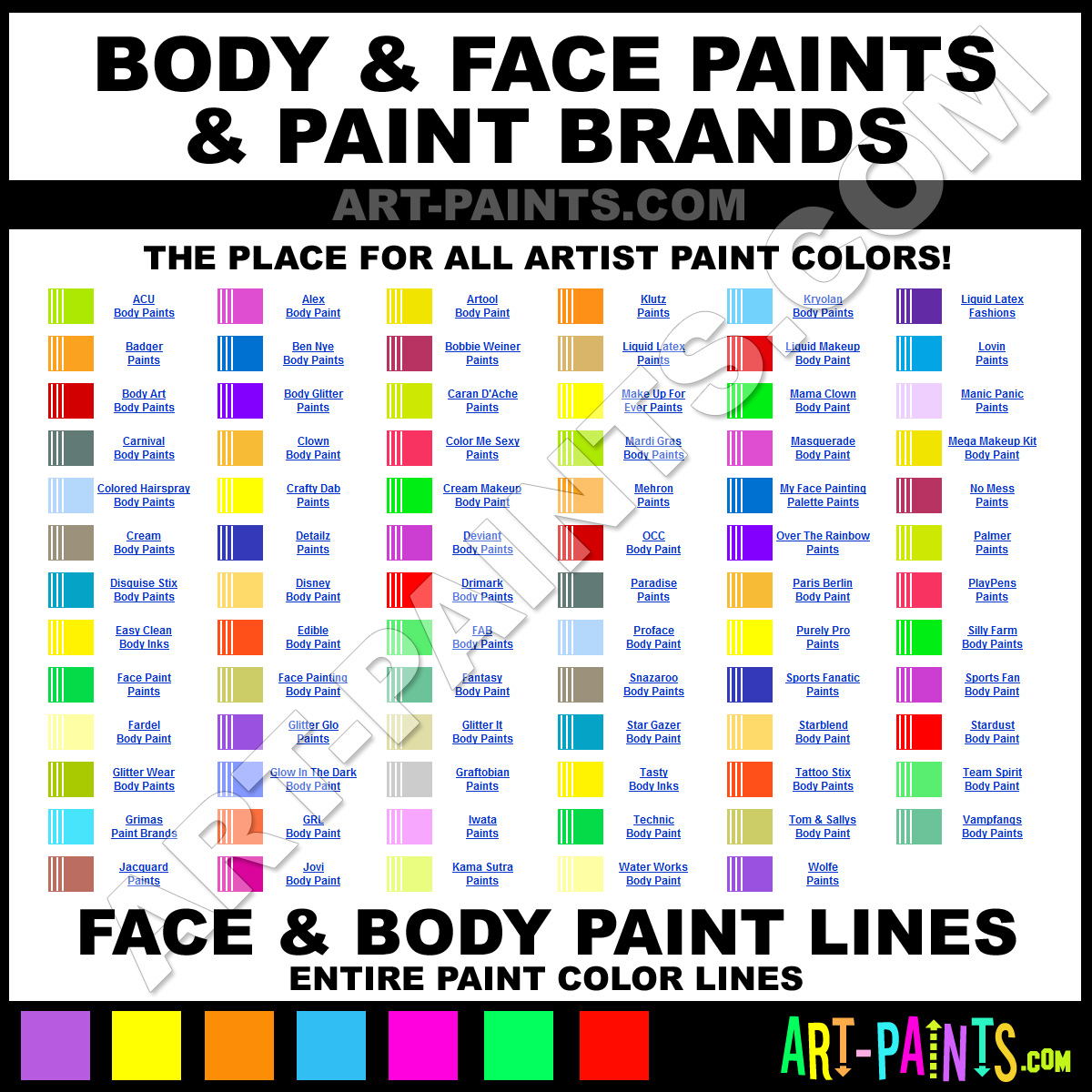 Face Paint Latex Face Paints And Brands