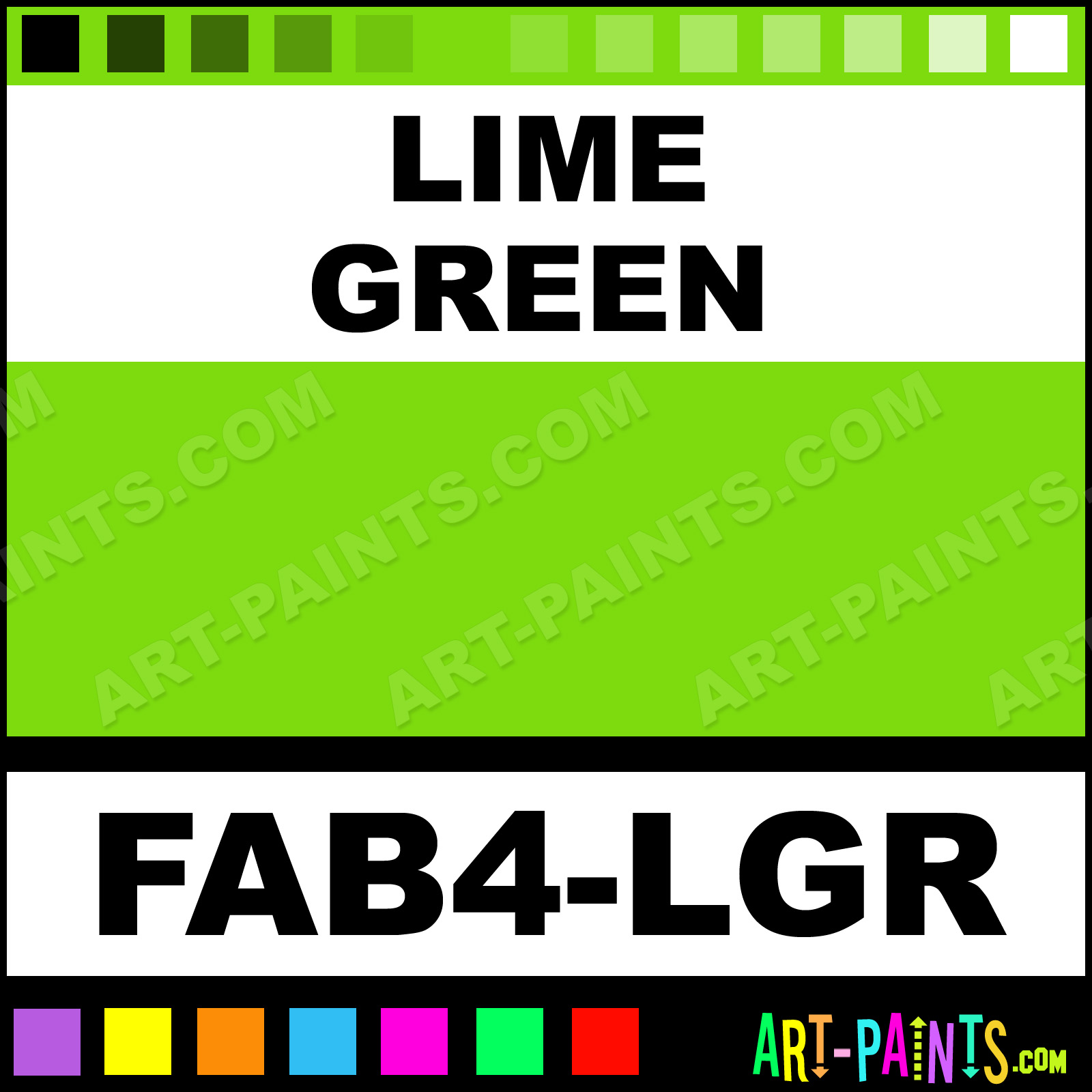 lime green paint body face paints - fab4-lgr - lime green paint