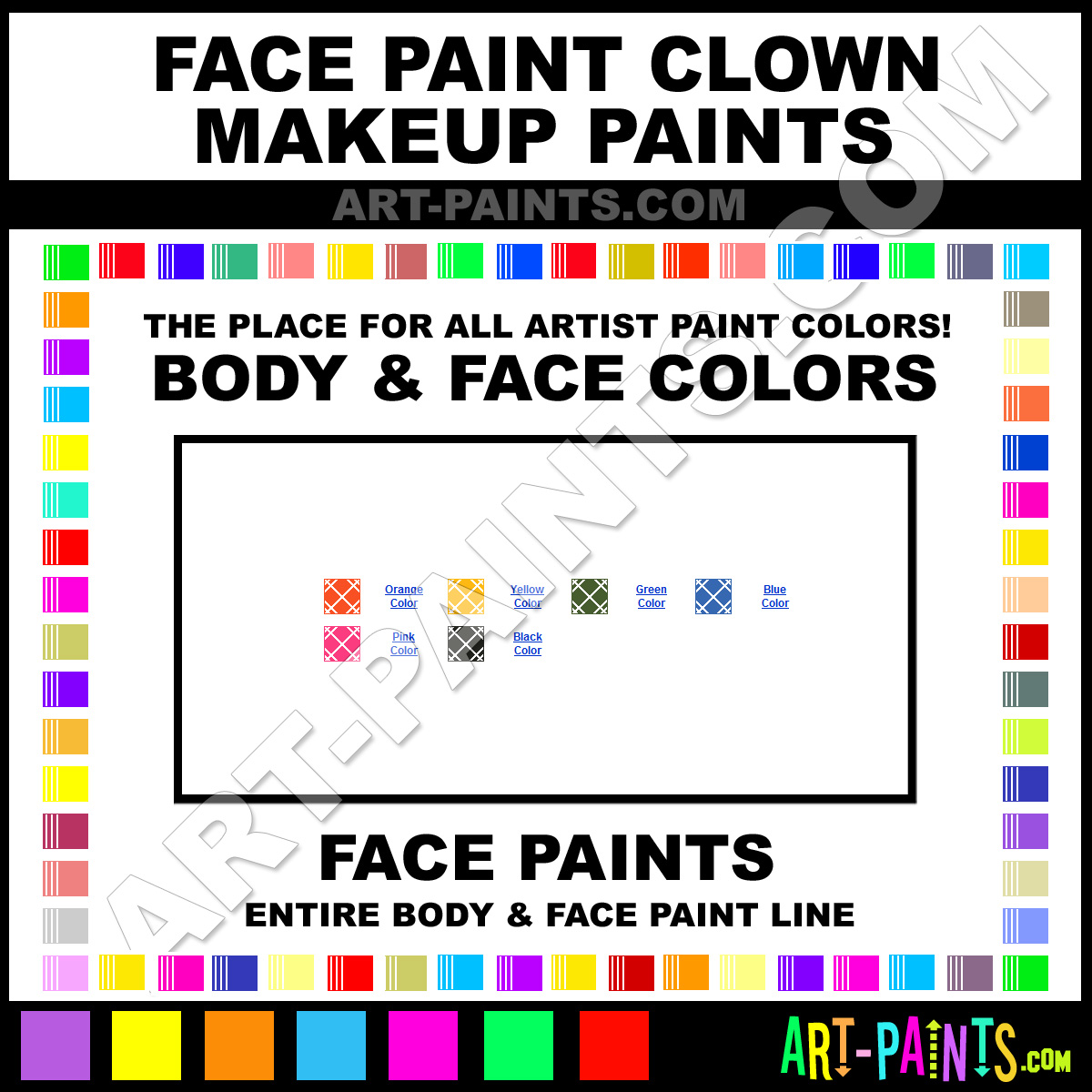 Easy Clown Face Painting Design - About.com Painting - Learn to