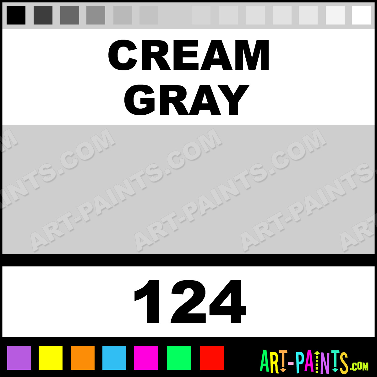 Cream gray paint body face paints 124 cream gray paint for Creamy grey paint color