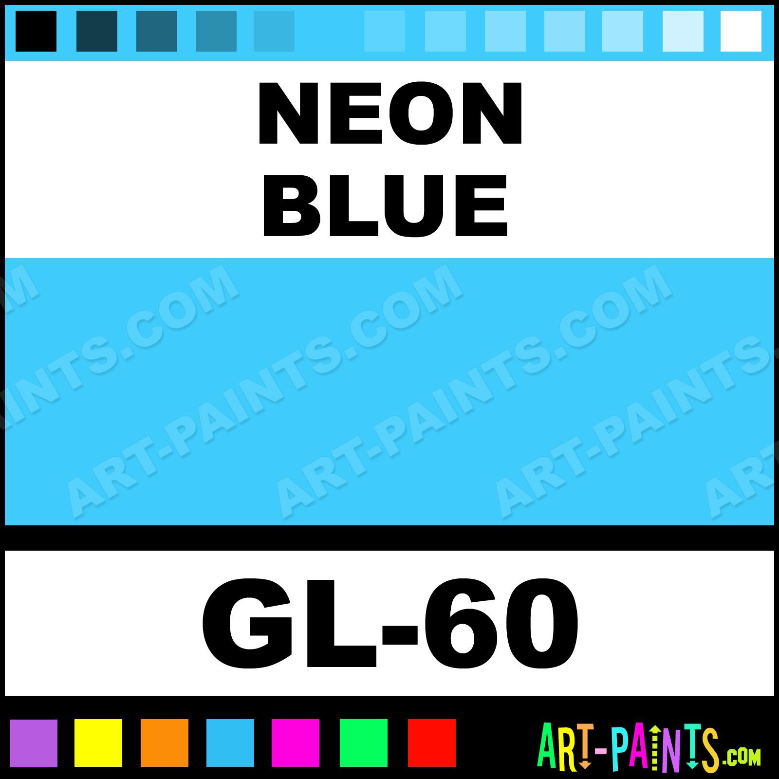 Grl Shimmer Glitter Paints Neon Blue