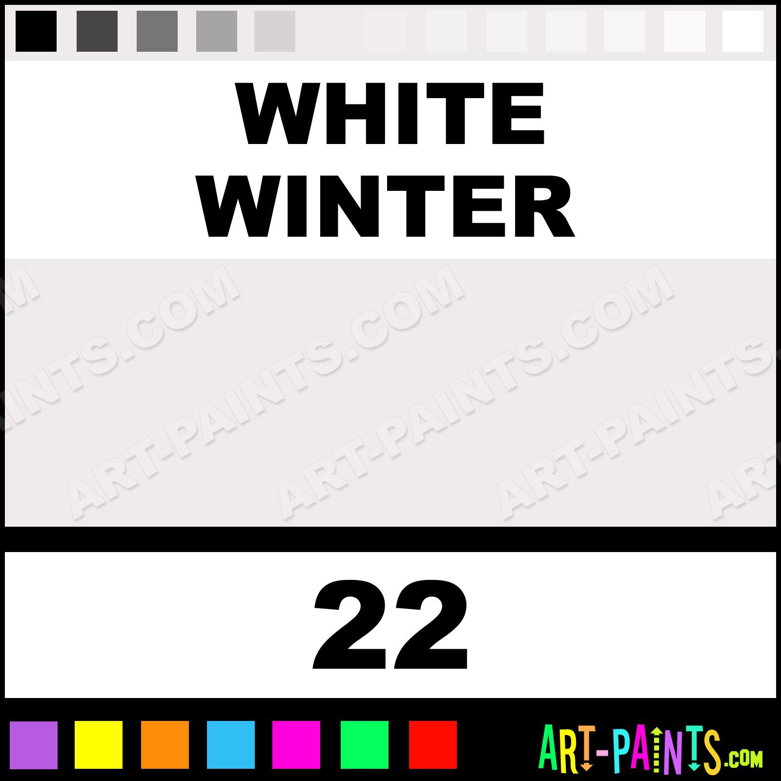 Winter Paint Colors: White Winter Shimmer Glitter Body Face Paints