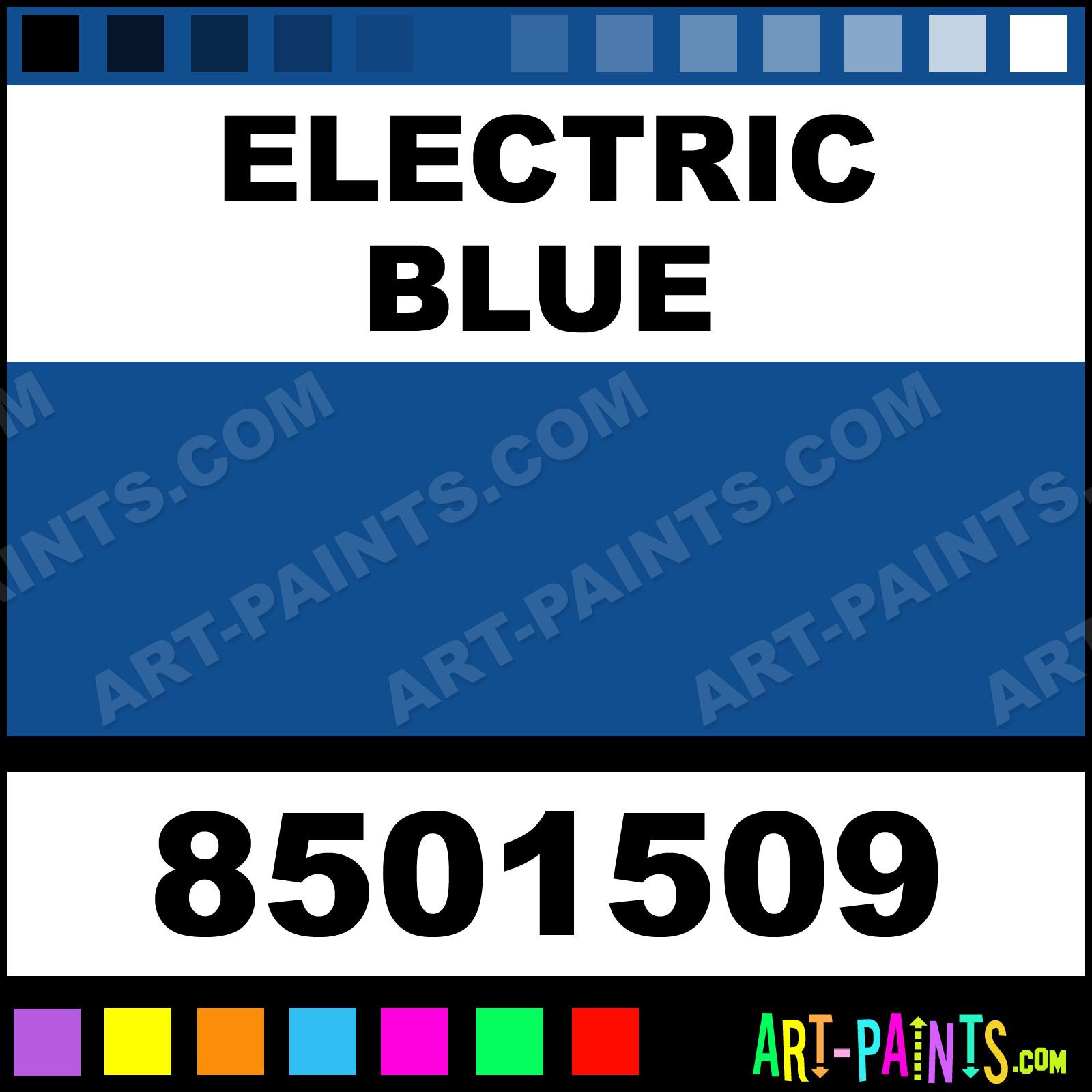 Electric Blue Paint