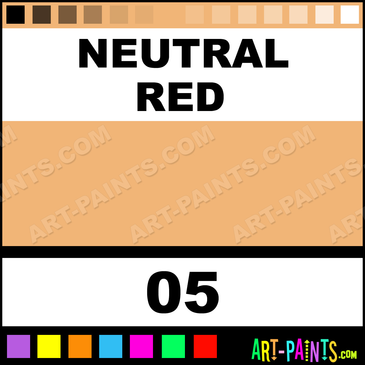 Neutral red colour powder body face paints 05 neutral for Neutral red paint colors