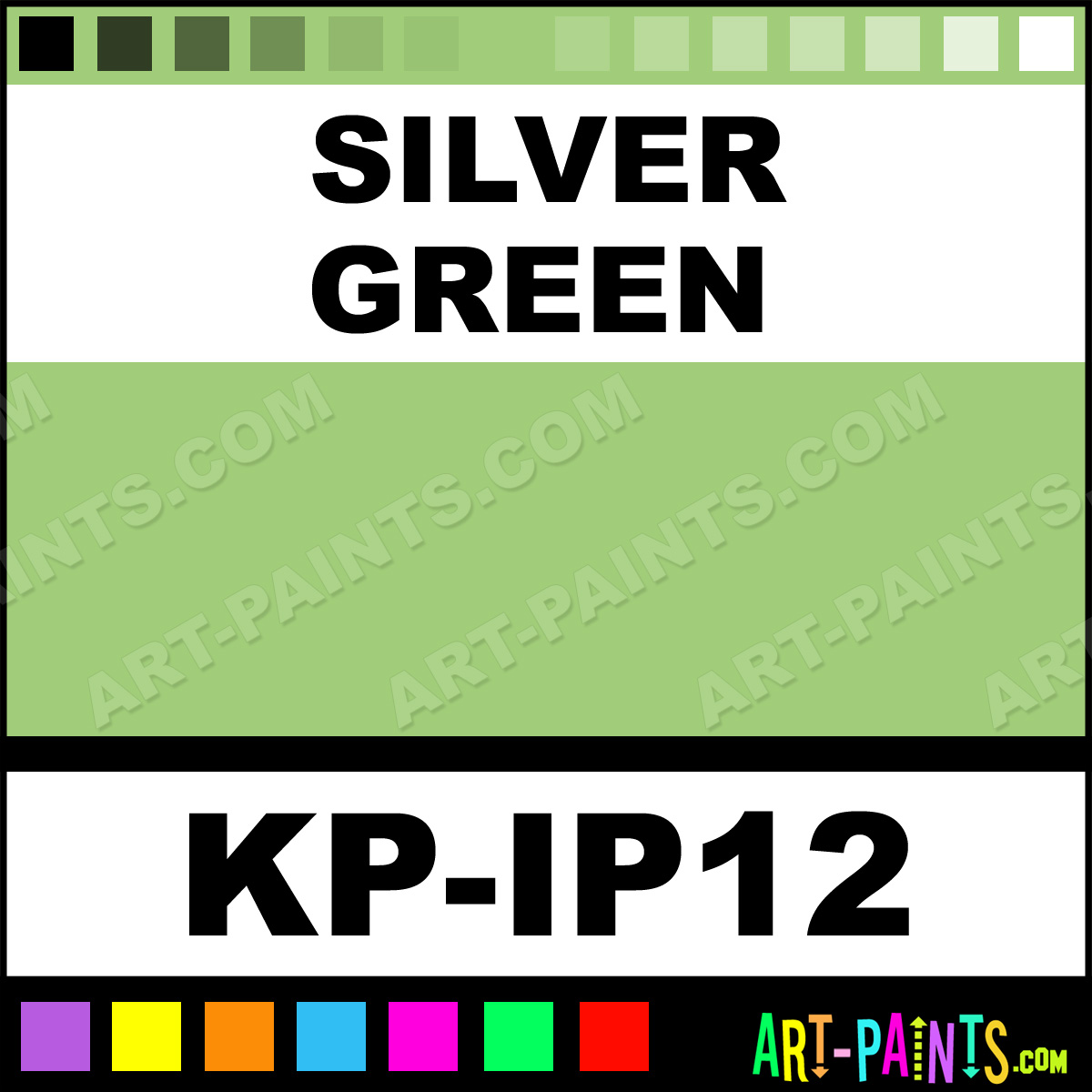 Silver Green Interferenze 12 Body Face Paints Kp Ip12