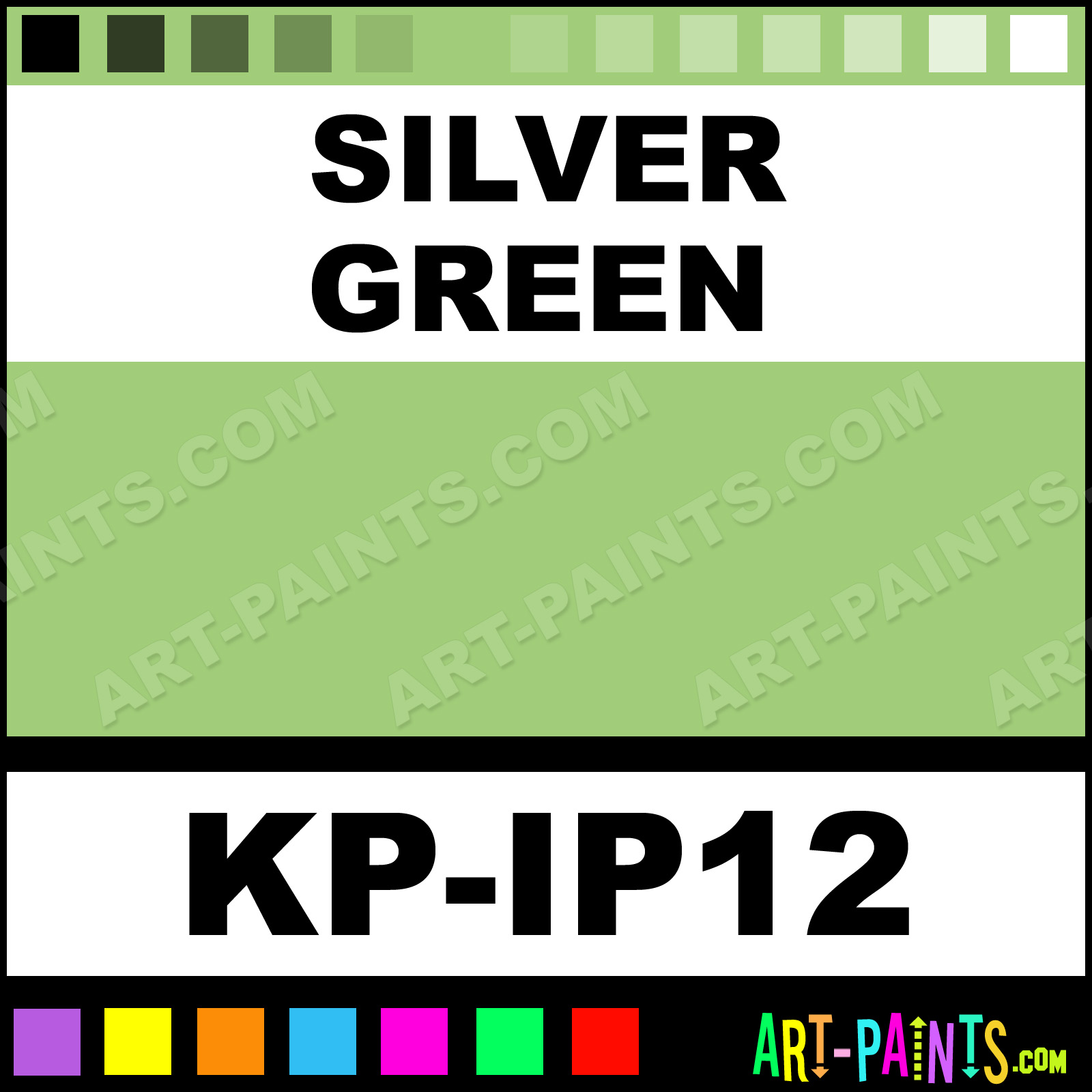 Silver Green Paint