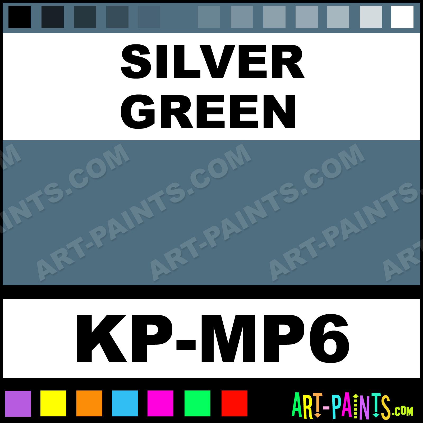 silver green metallic body face paints kp mp6 silver