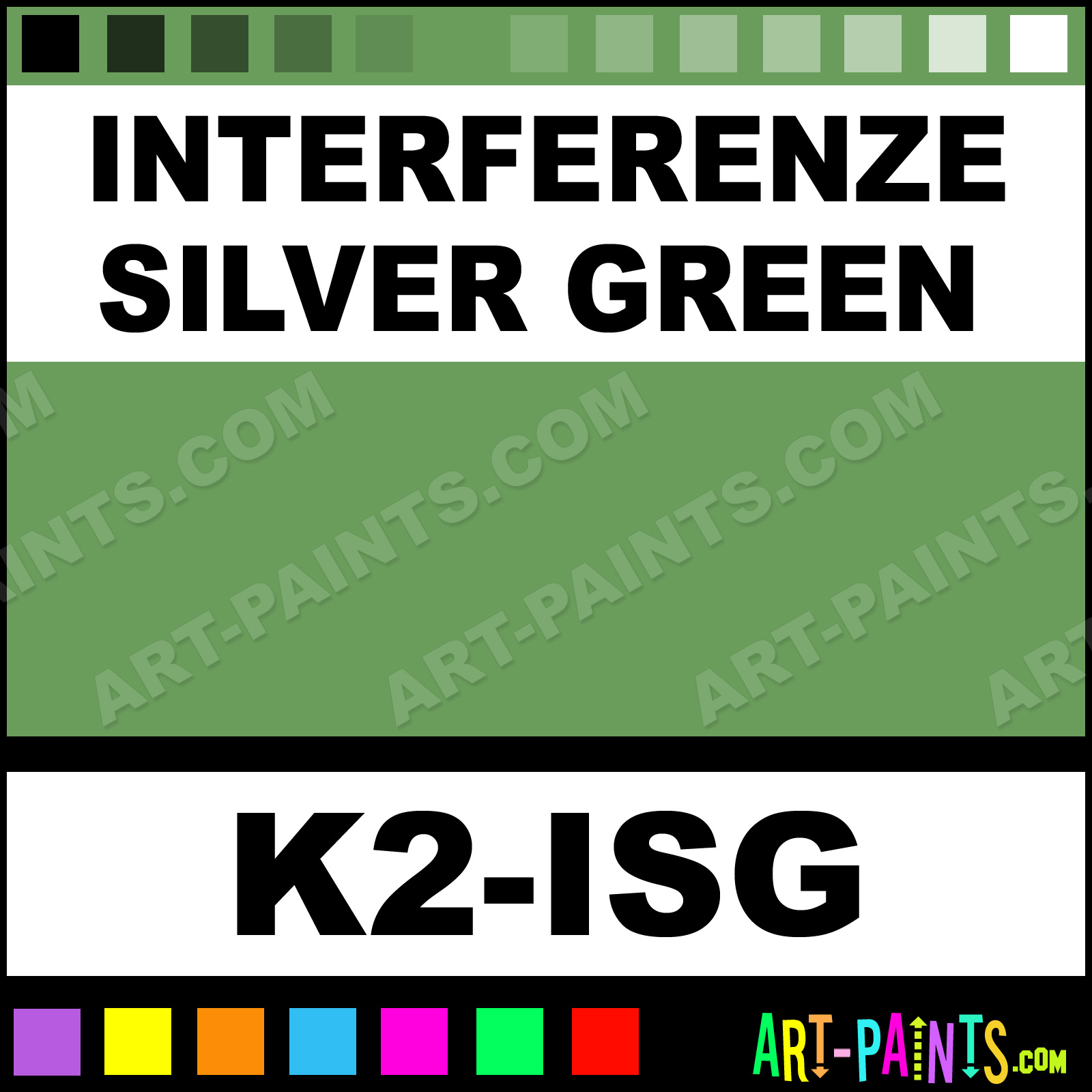 interferenze silver green paints body face paints k2 isg