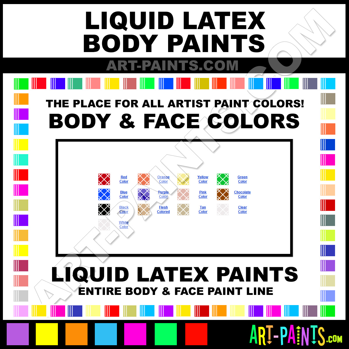 Liquid Latex Body Paints