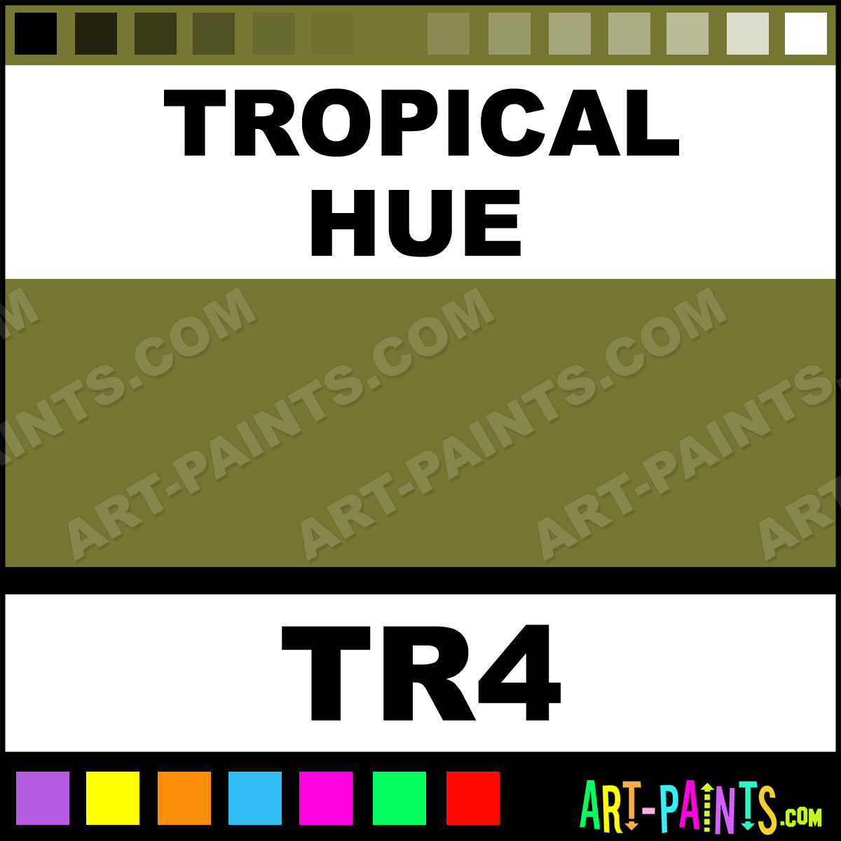 Tropical Make Up Body Face Paints Tr4 Tropical Paint