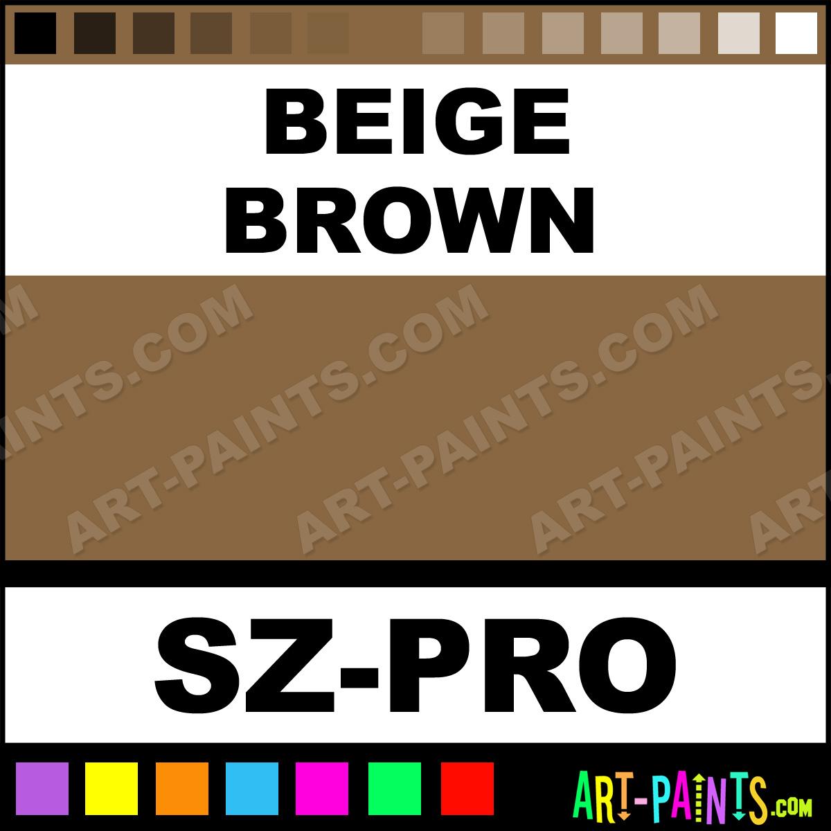Beige brown 54 color pro body face paints sz pro beige for Brown beige paint color