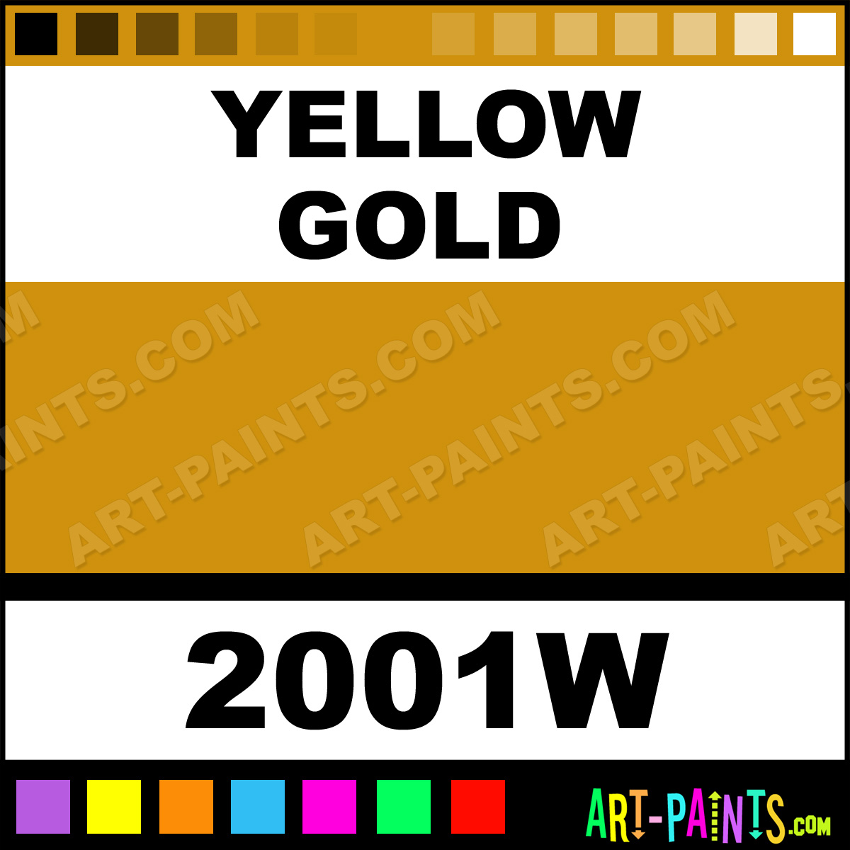 Yellow Gold Color Wheels Body Face Paints 2001w Yellow
