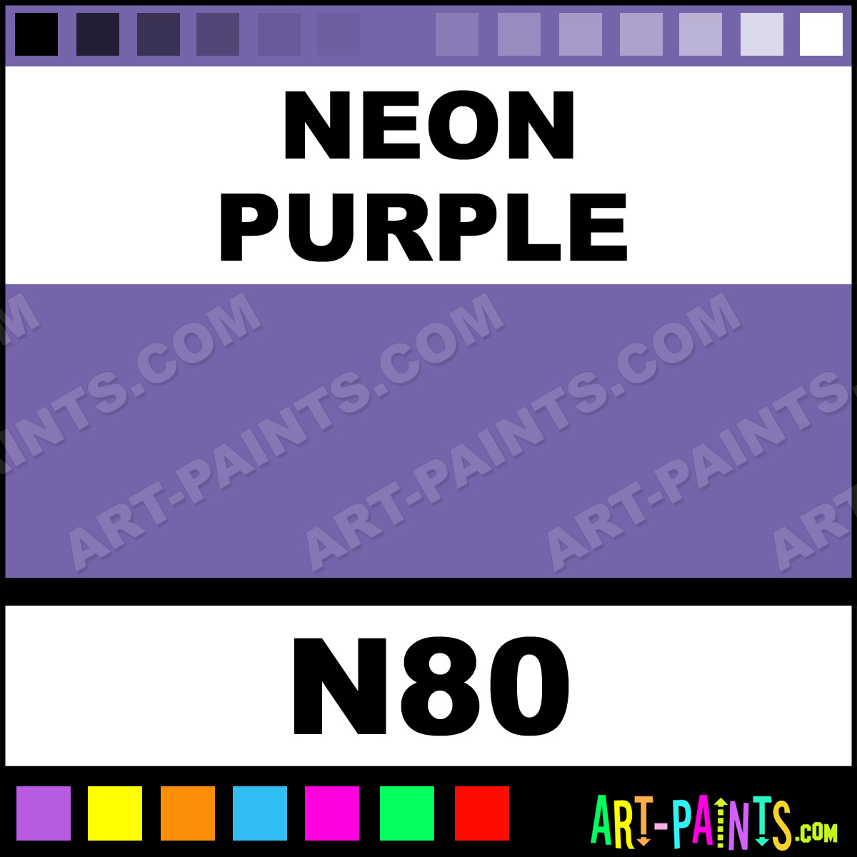 Neon Purple Hydrocolor Body Face Paints N80 Neon