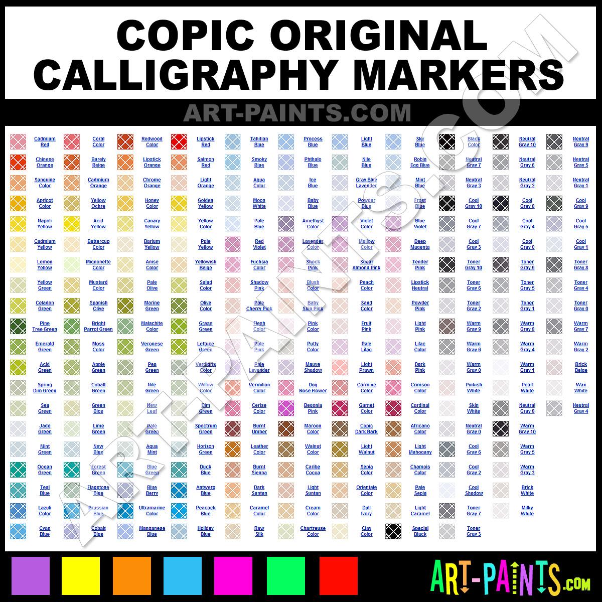 Celadon Green Original Markers Calligraphy Inks Pigments