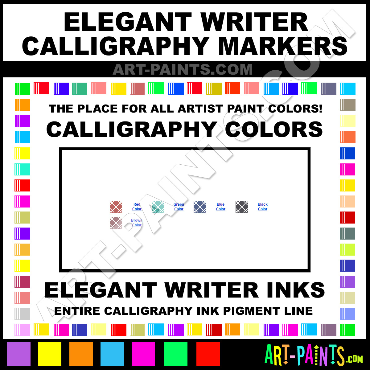 Elegant writer calligraphy markers calligraphy ink paint Elegant writer calligraphy pens