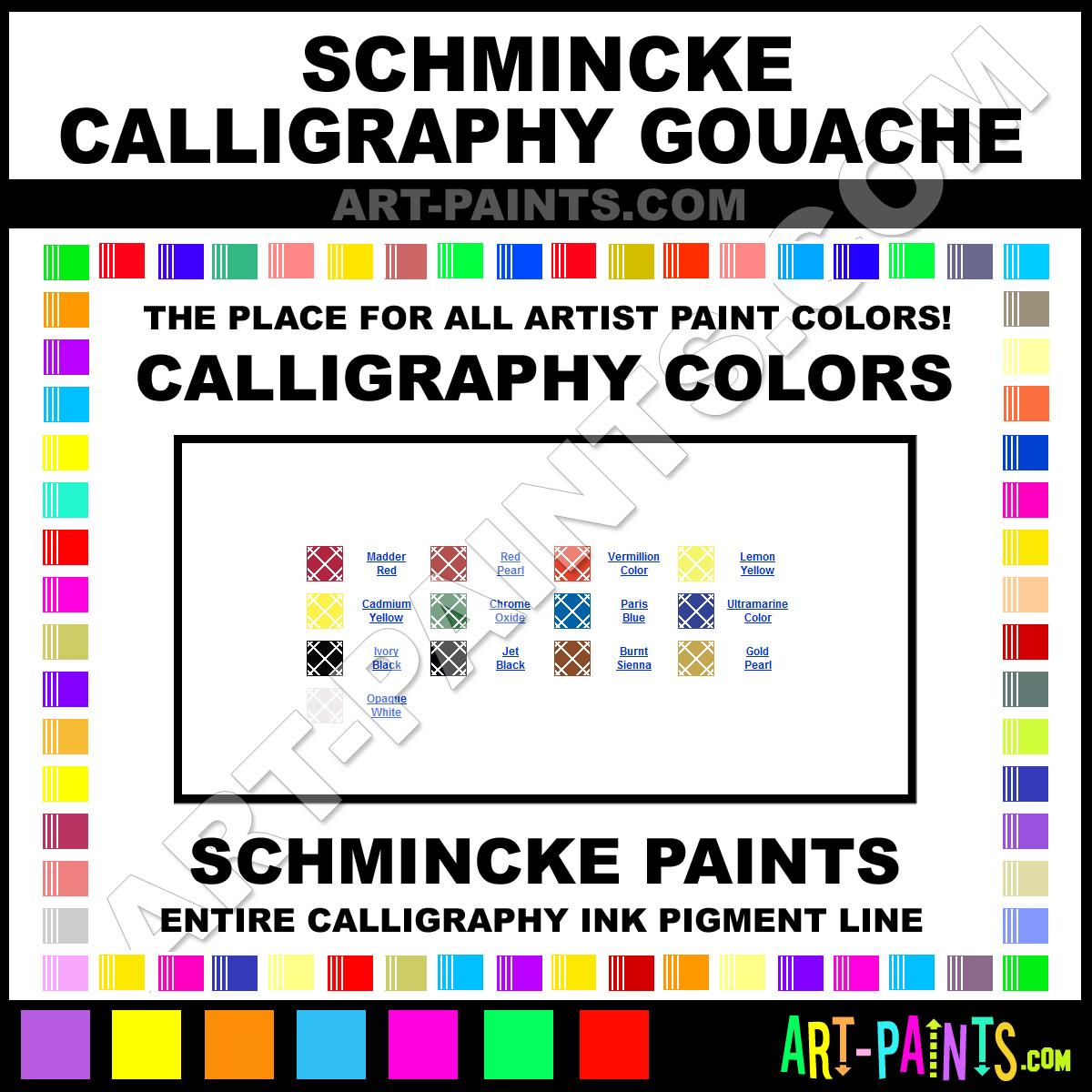 Schmincke Calligraphy Gouache Calligraphy Ink Paint Colors