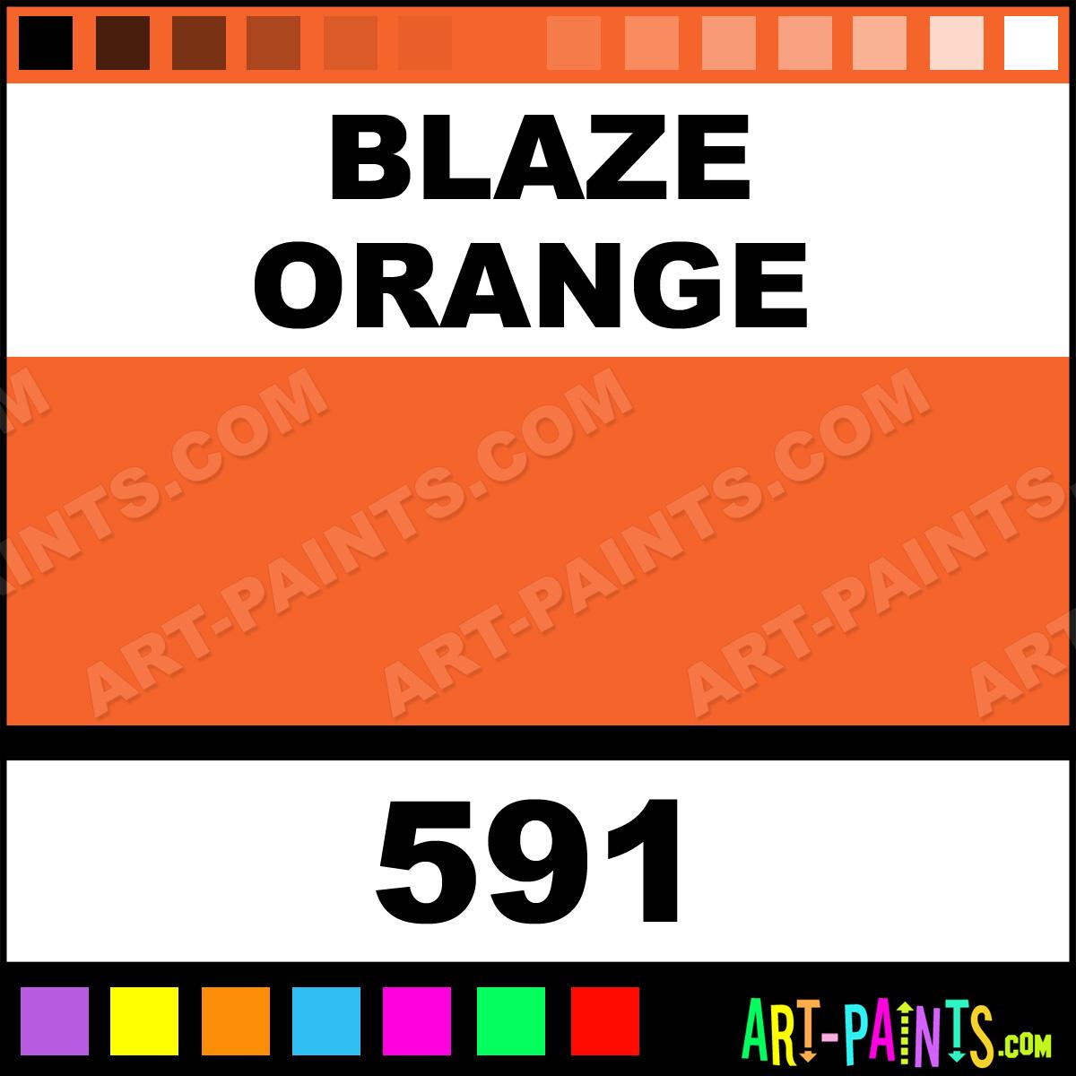 Blaze Orange Inks And Paint