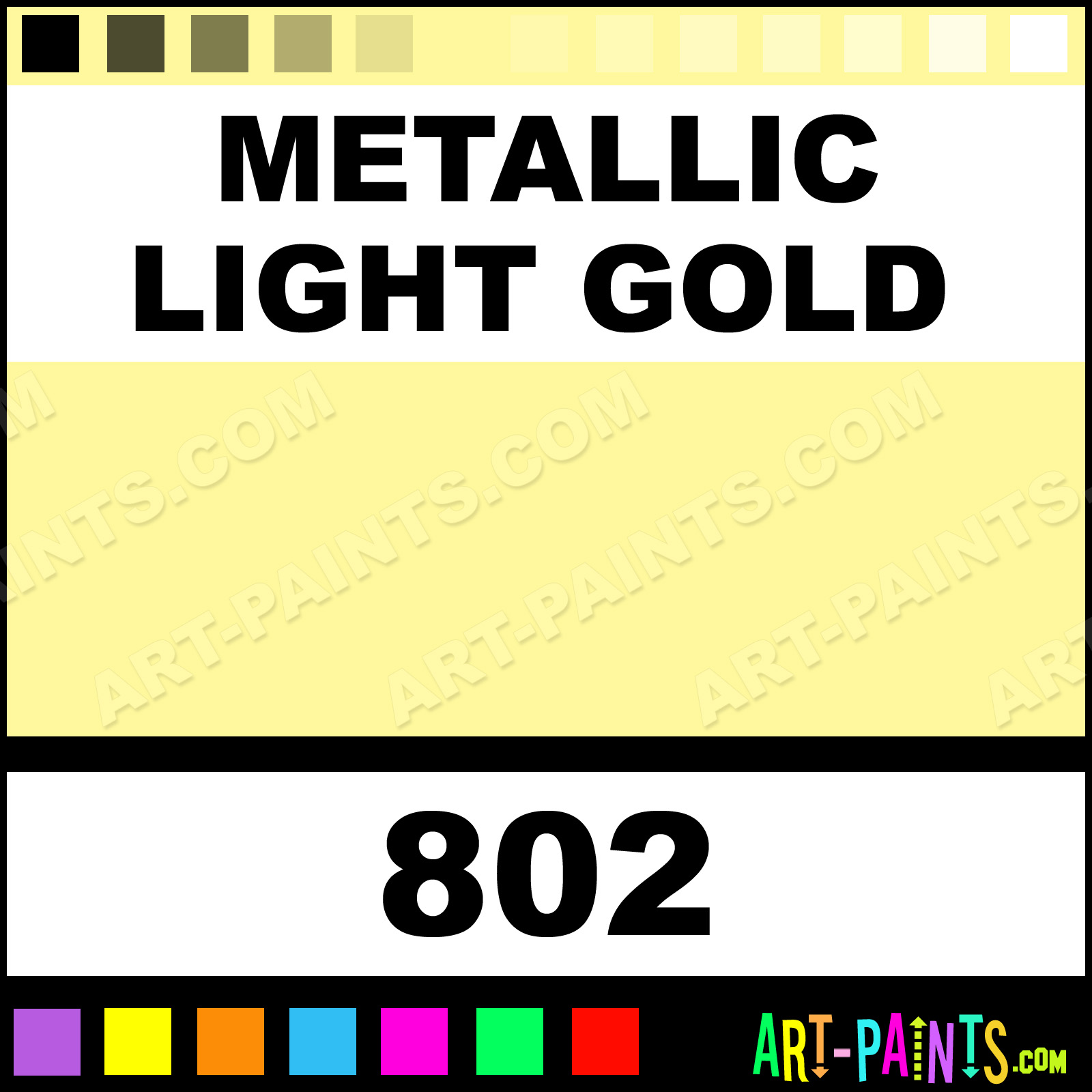 Gold Paint For Metal Metallic Light Gold