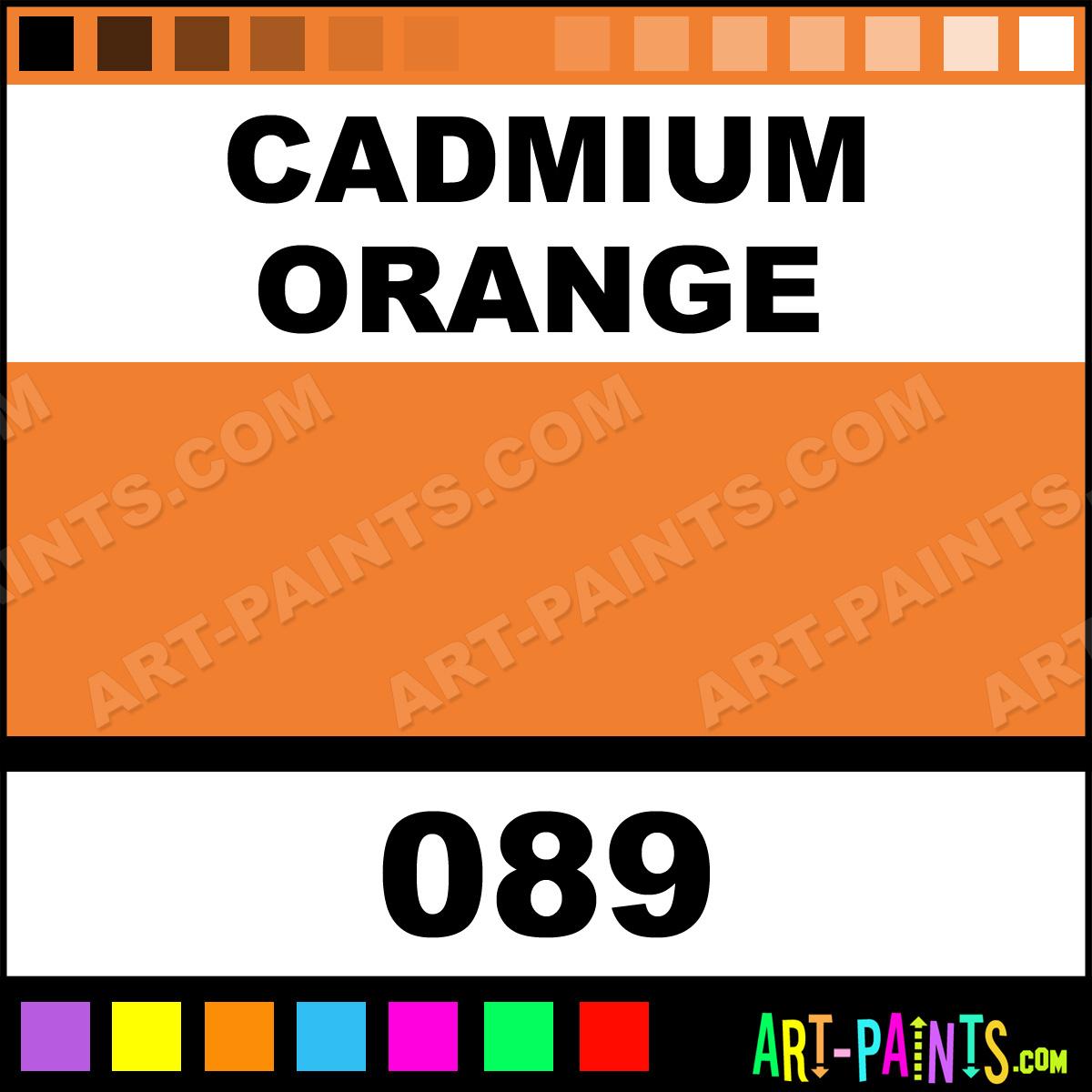 Cadmium Orange Designers Gouache Calligraphy Inks